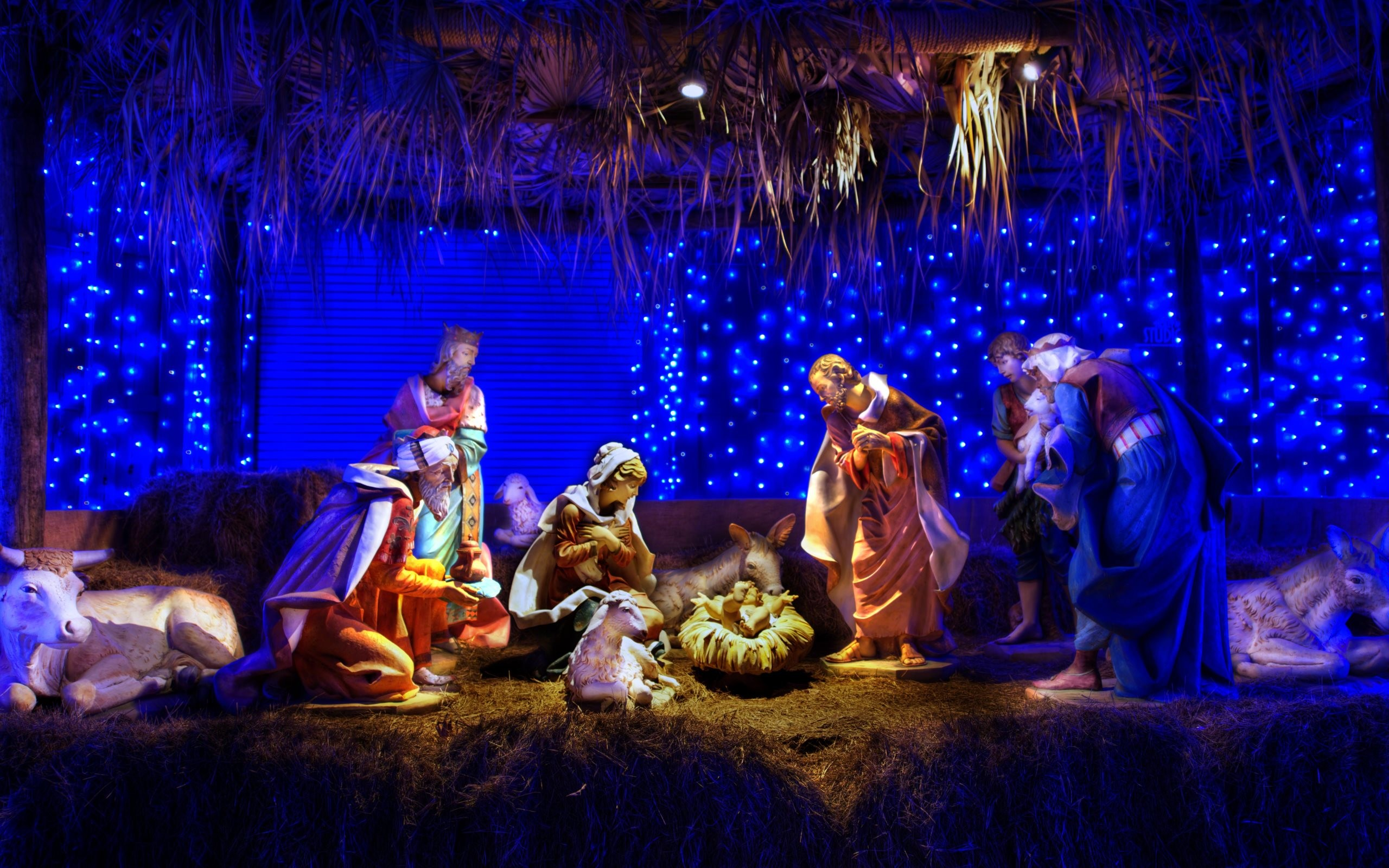 Christmas nativity scene wallpaper 59 images for Wall scenes