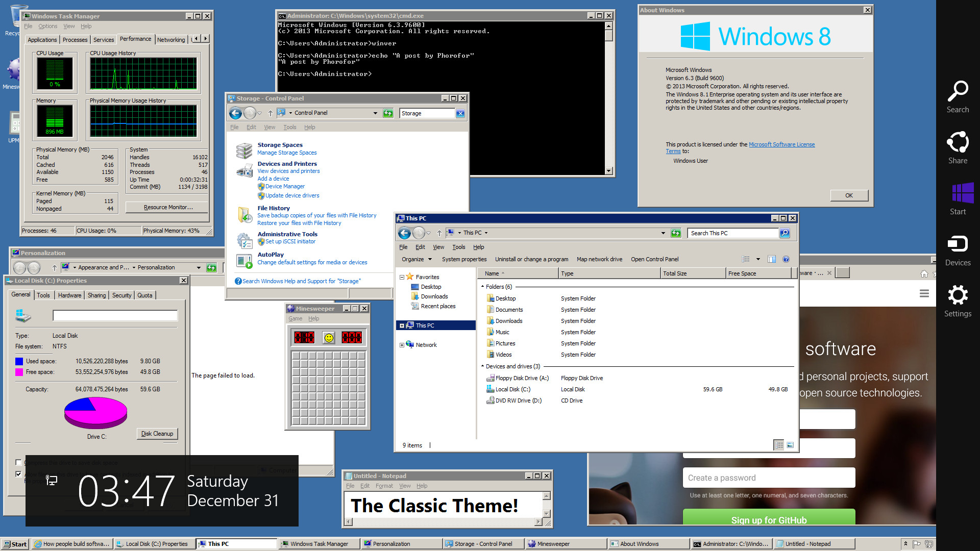 1920x1080 The Classic Theme in Windows 10 and 8.1 (ClassicTheme.exe)