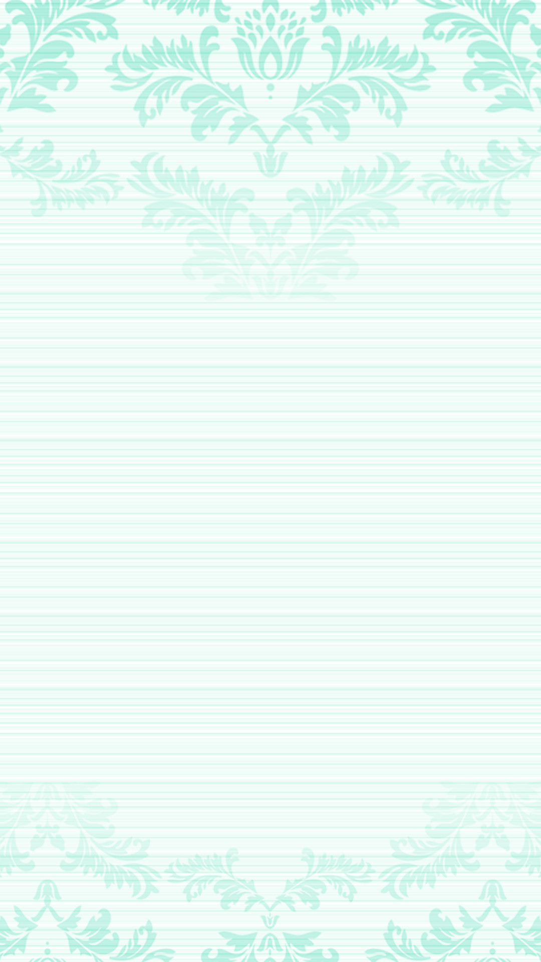 1080x1920 Pastel mint green ombre damask frame iPhone phone lock screen wallpaper background