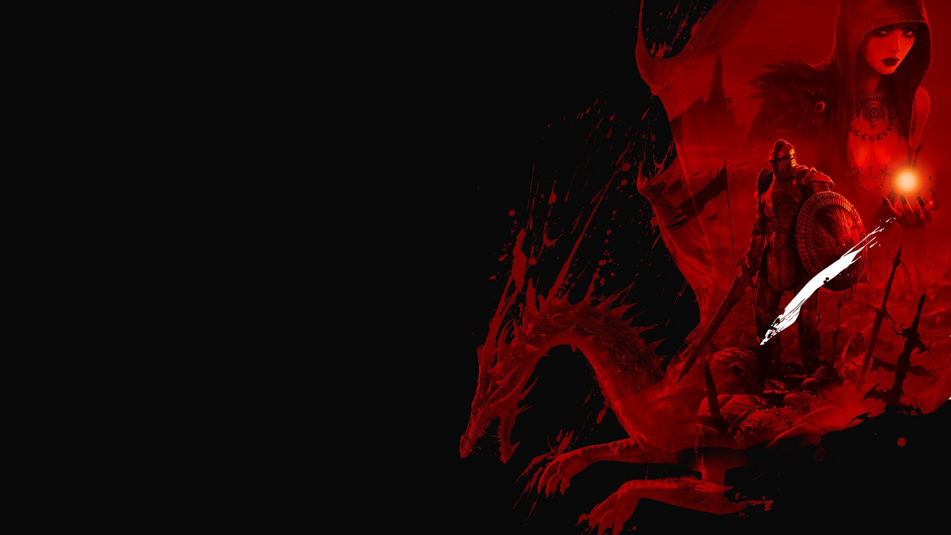 Black and red wallpaper 1920x1080 75 images - Black screensaver ...