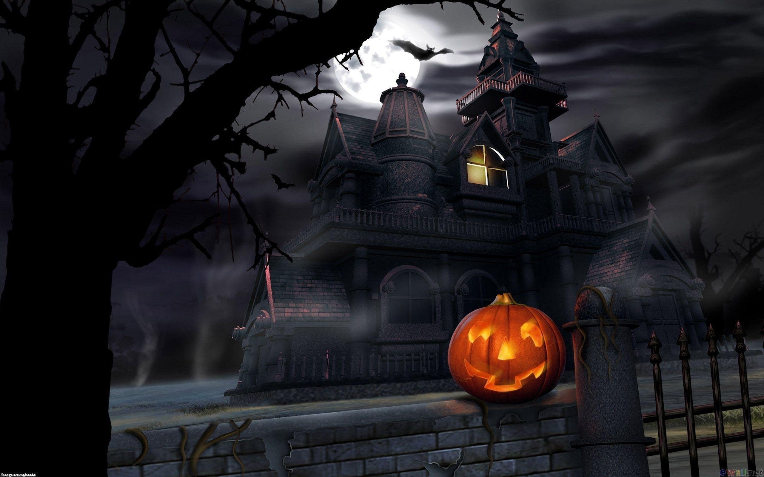 2560x1600 Halloween Haunted House Wallpapers