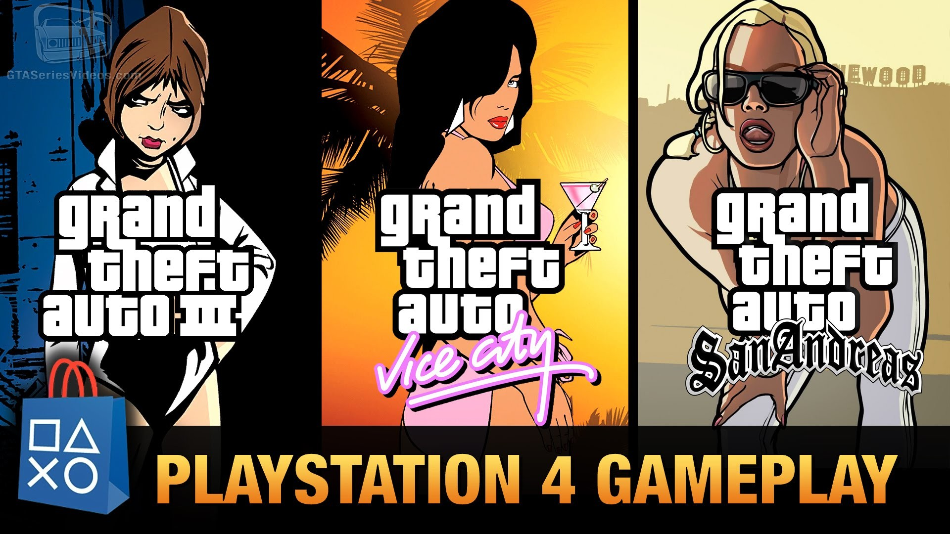 1920x1080 GTA 3, GTA Vice City & GTA San Andreas - PlayStation 4 Gameplay - YouTube