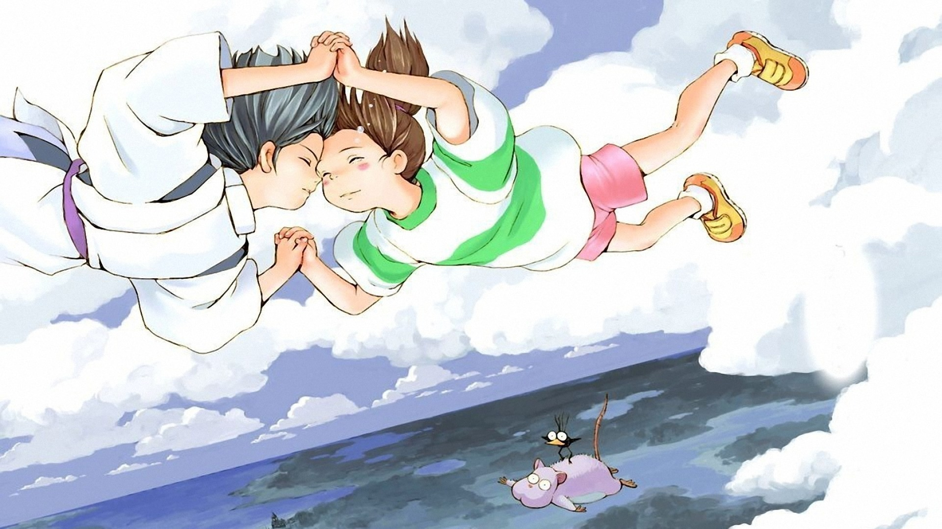 1920x1080 Studio Ghibli Spirited Away Haku (Spirited Away) Chihiro Ogino 1080p HD  Wallpaper Background