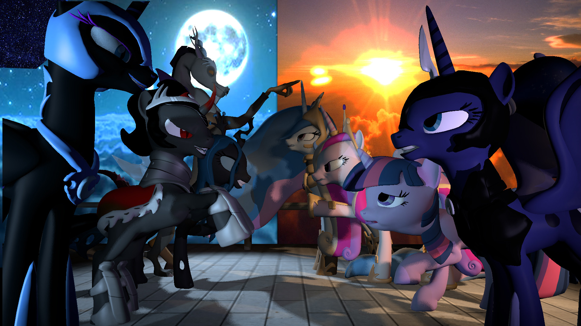 1920x1080 MLP Good Vs Evil by ForsakenKnightmare MLP Good Vs Evil by  ForsakenKnightmare