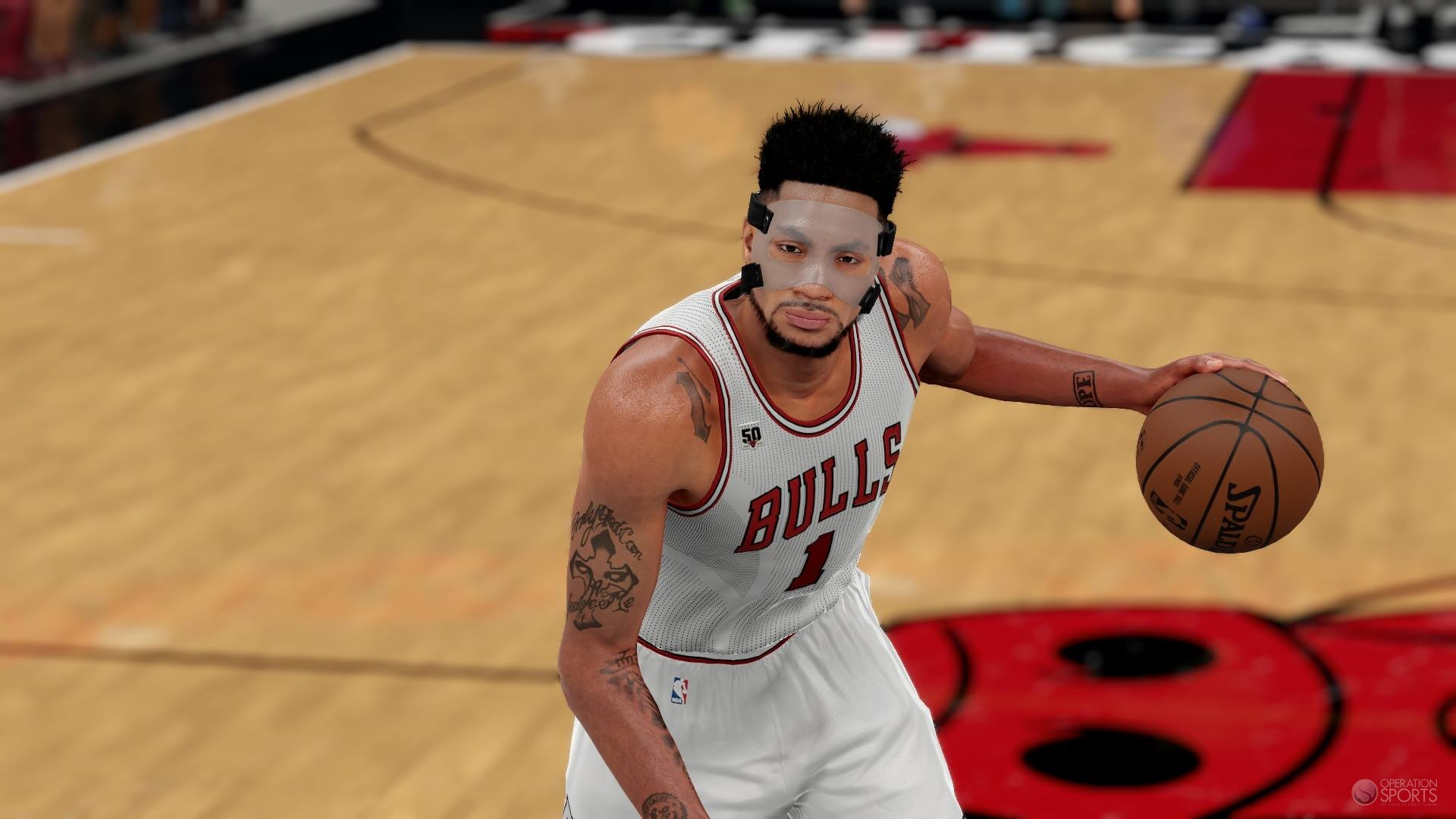 1920x1080 NBA 2K16 Adds Mask For Derrick Rose & Clippers Black Alternate Uniforms