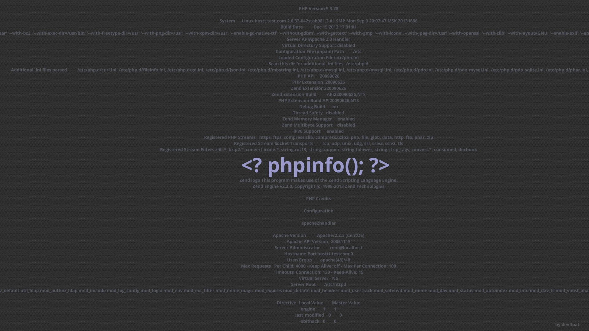 1920x1080 PHPinfo Developer Wallpaper