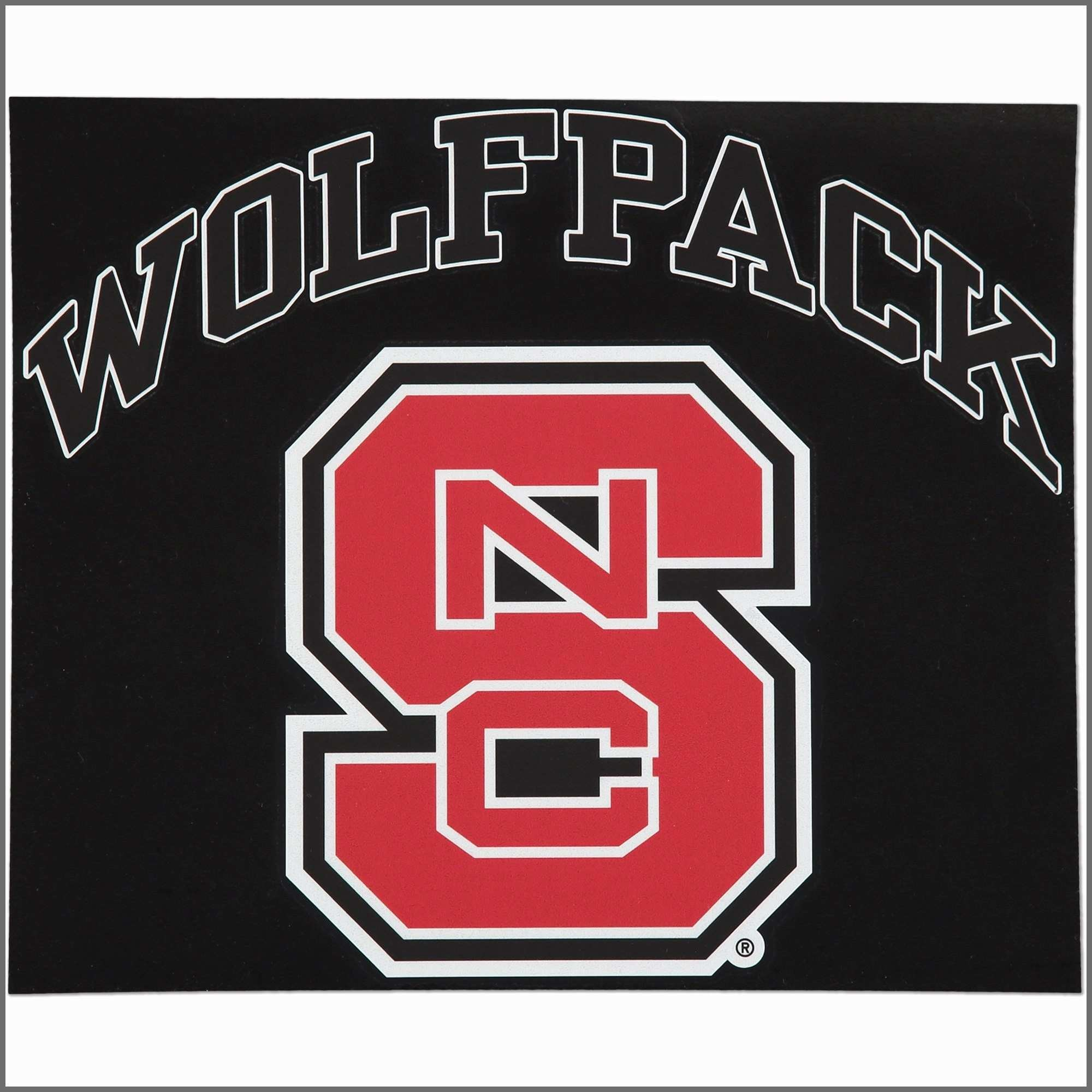 "2000x2000 Nc State Wolfpack Logo Good Nc State Wolfpack 12"" X 12"" Arched Logo Decal"