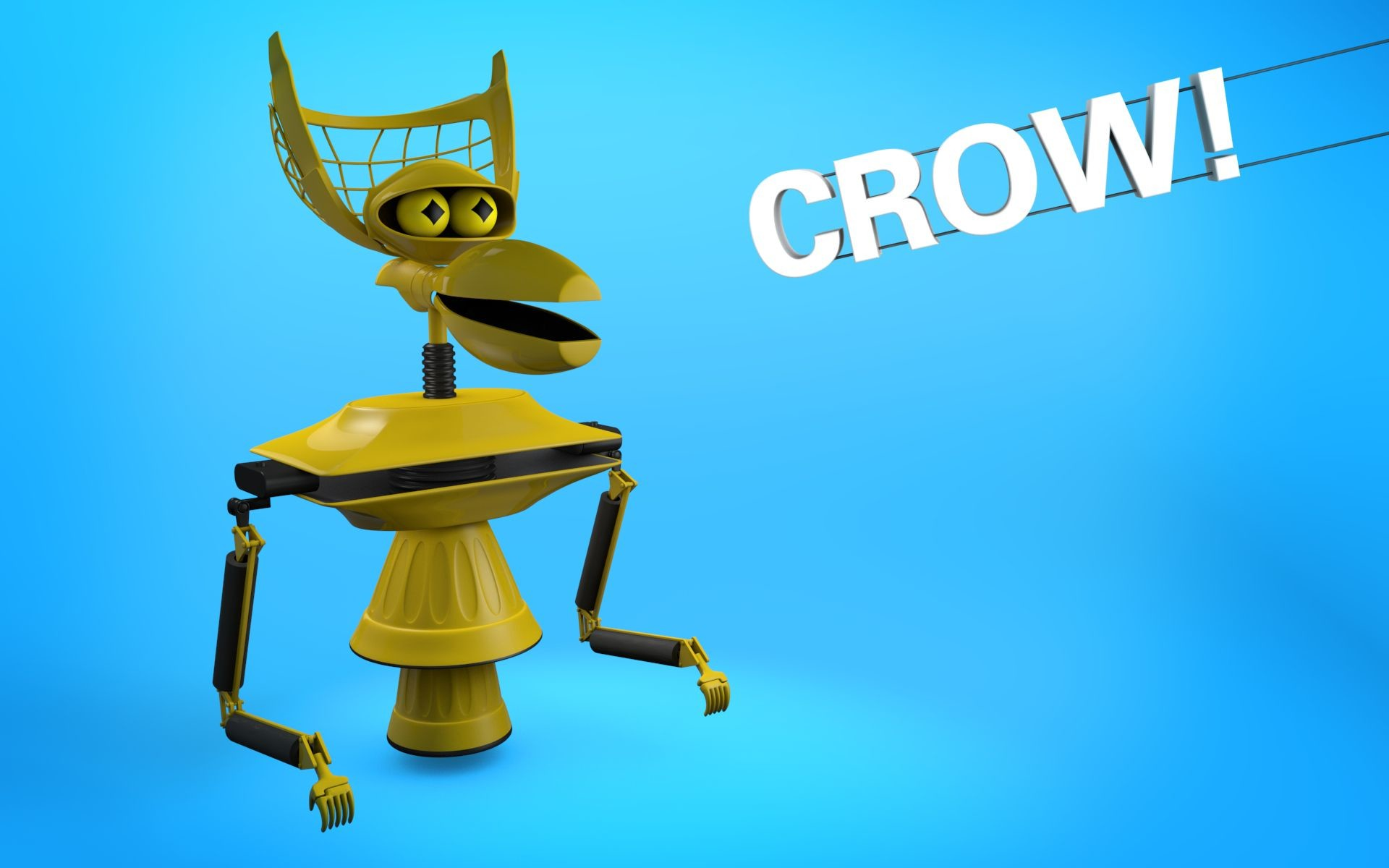 1920x1200 Dig the Tom Servo wallpaper I made? Here's CROW!