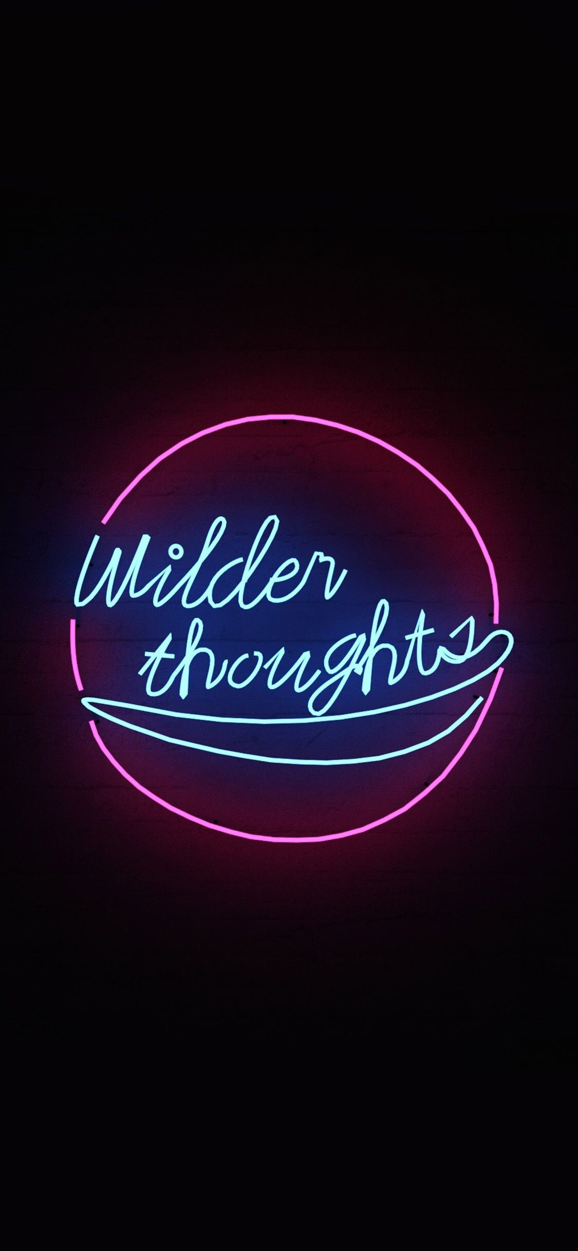 1125x2436 Aesthetic Wallpapers, Art Quotes, Neon Quotes, Wallpaper Iphone Neon, Neon  Light Wallpaper