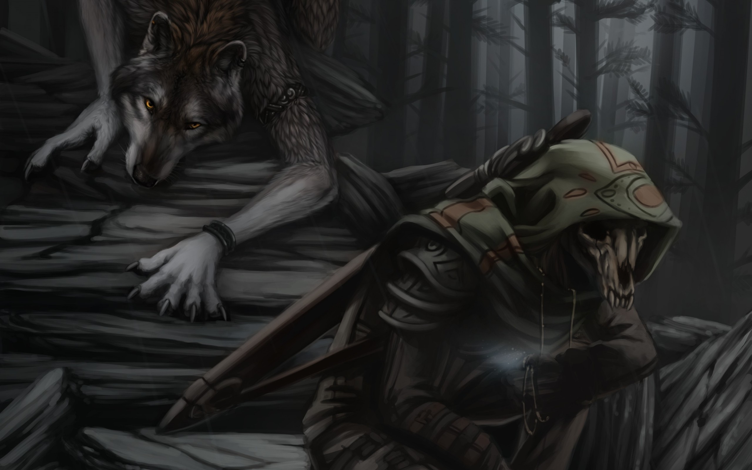 2560x1600 ... Werewolf and Grim Reaper
