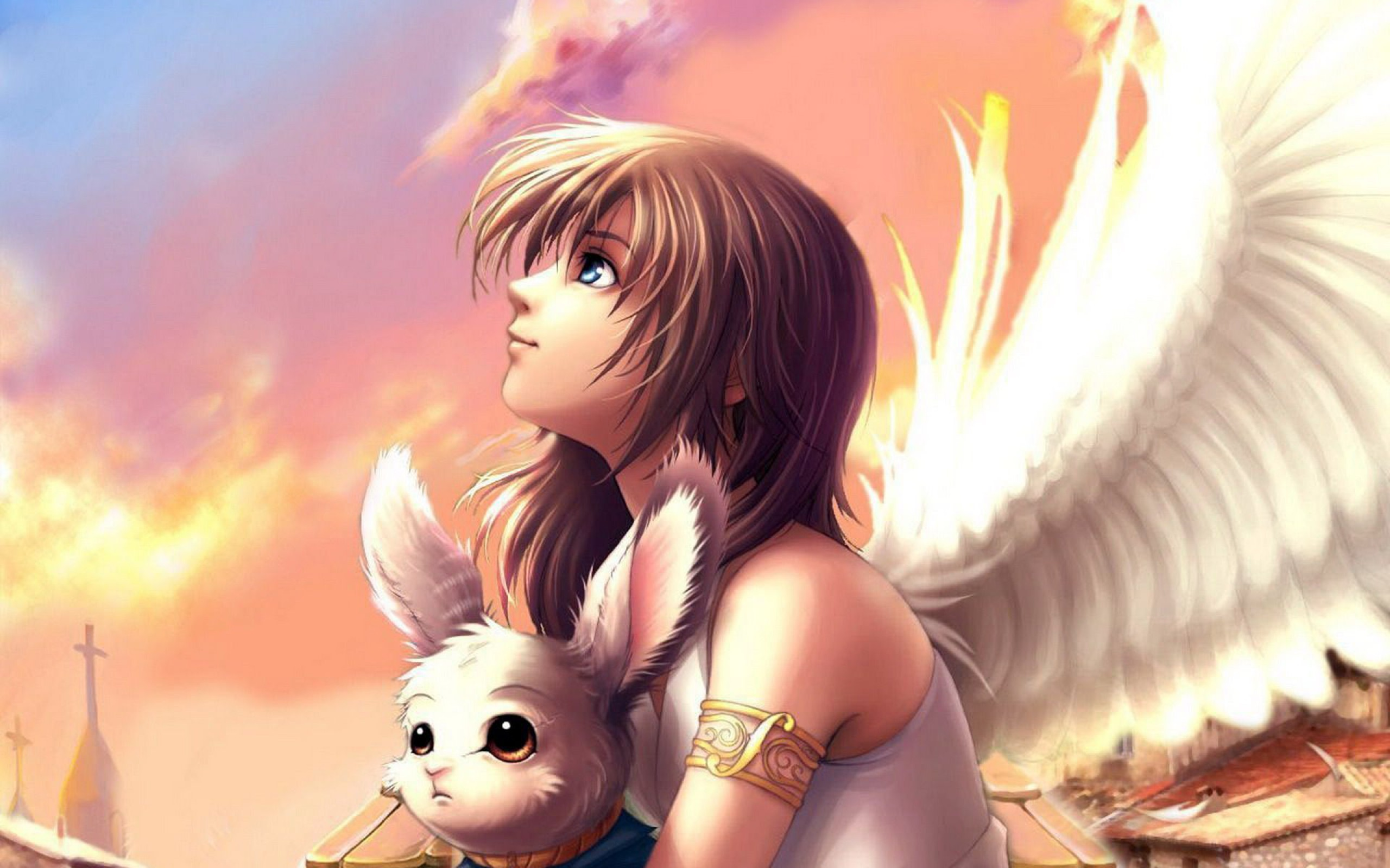 2560x1600 Anime angel wings wallpaper free desktop | Wallpapers, Backgrounds .