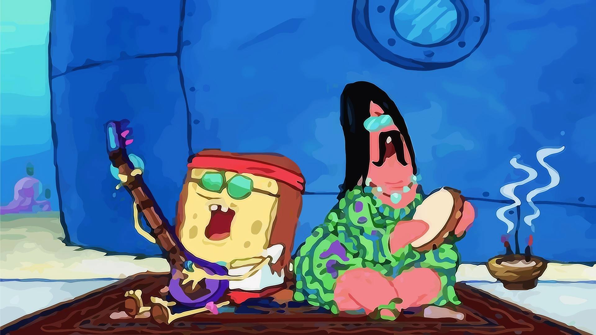 1920x1080 Hd Hippie Spongebob Squarepants Pictures.