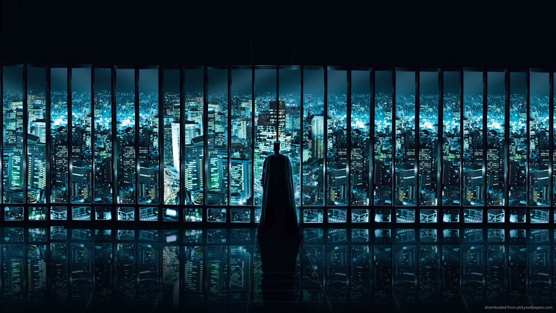 1920x1080 The Dark Knight Wayne Tower picture