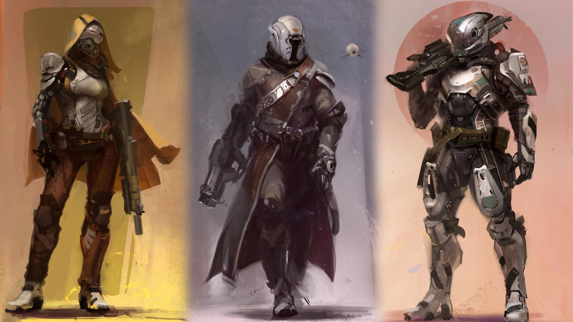 1920x1080 Guardian classes Hunter, Titan and Warlock Destiny game sci fi. HD .
