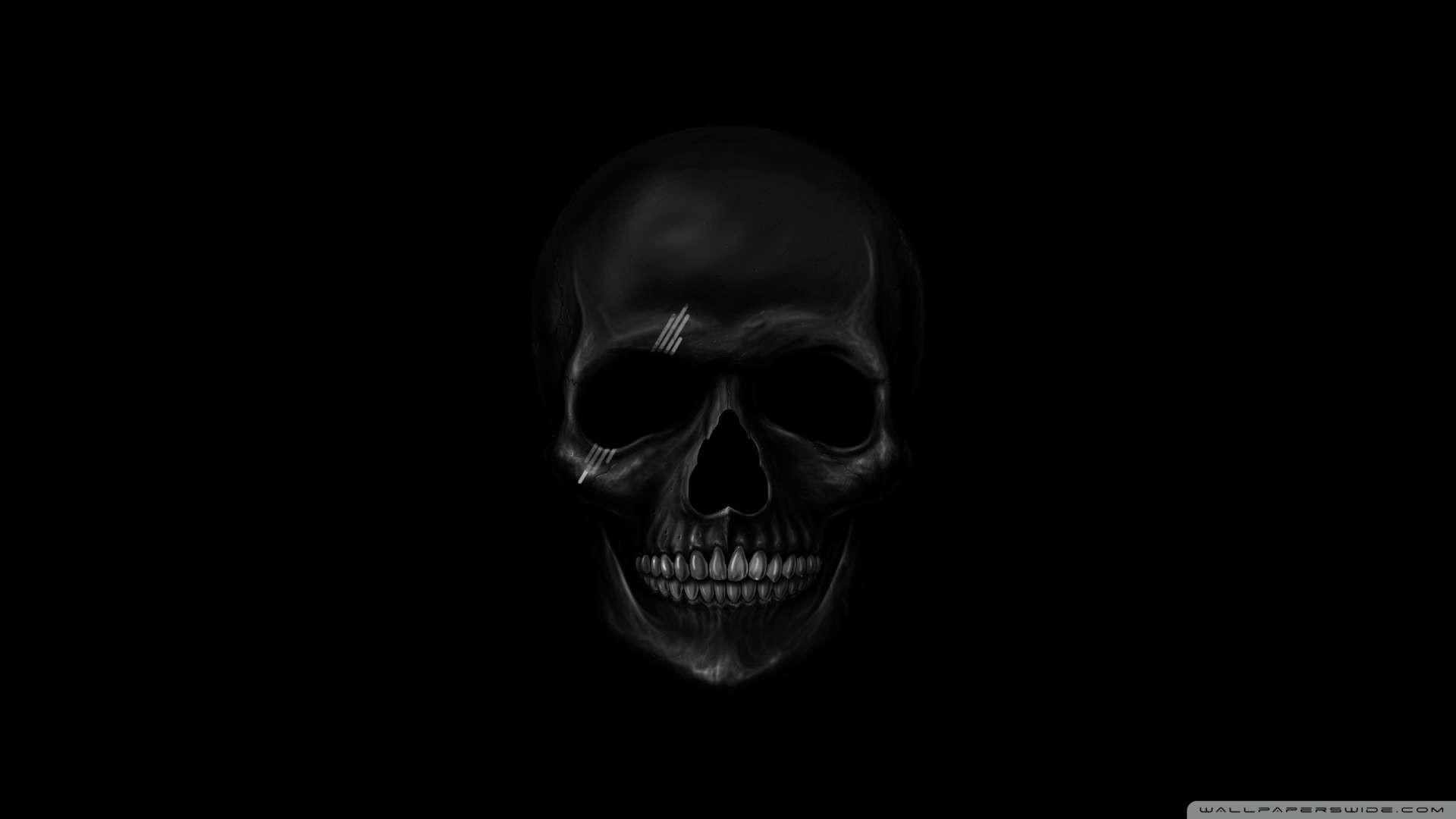 1920x1080 Wallpaper: Black Skull Wallpaper 1080p HD. Upload at February 12, 2014 .