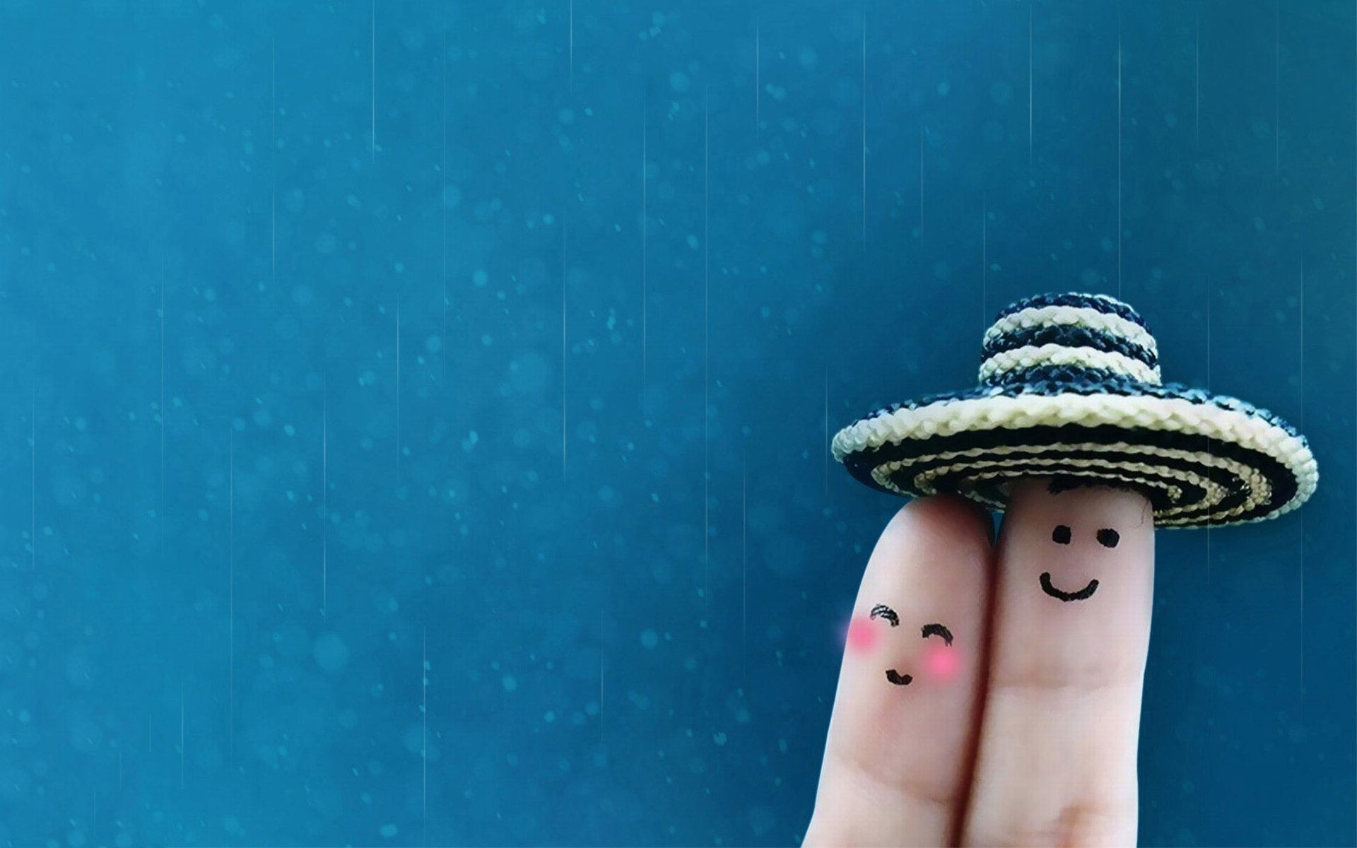 1920x1200 Finger Art Sweet Couple Love Wallpaper