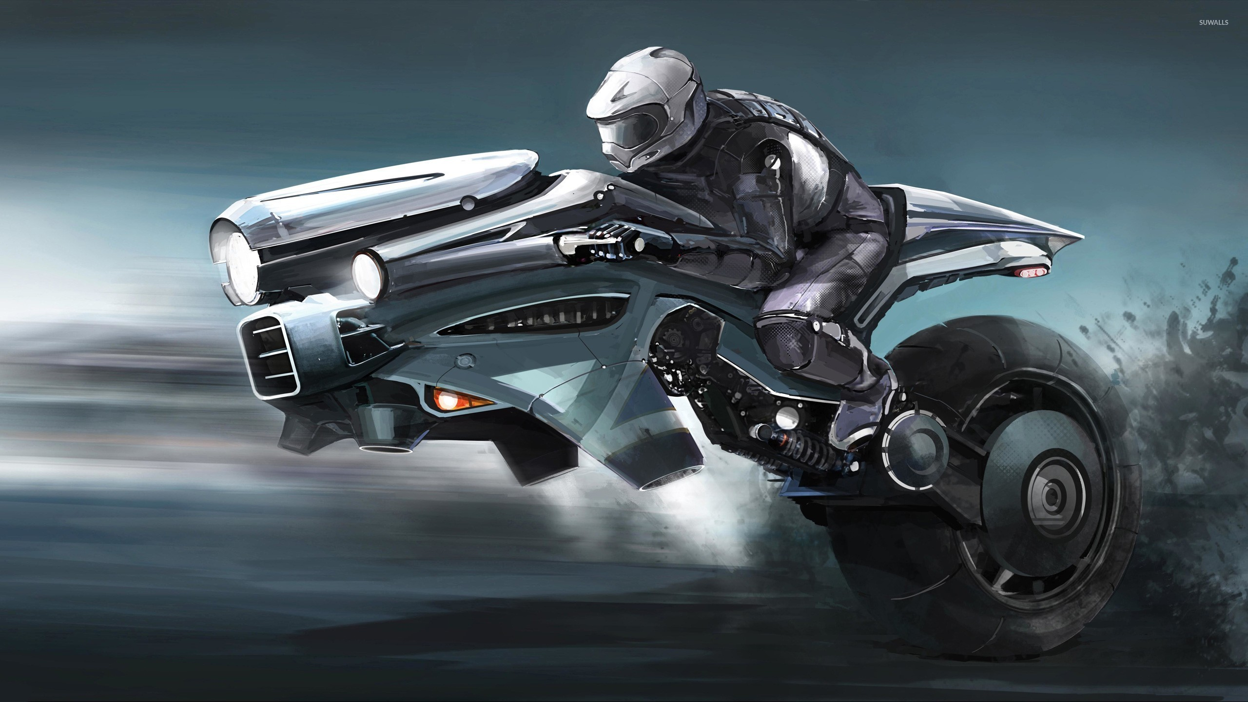 2560x1440 Motorcycle of the future wallpaper