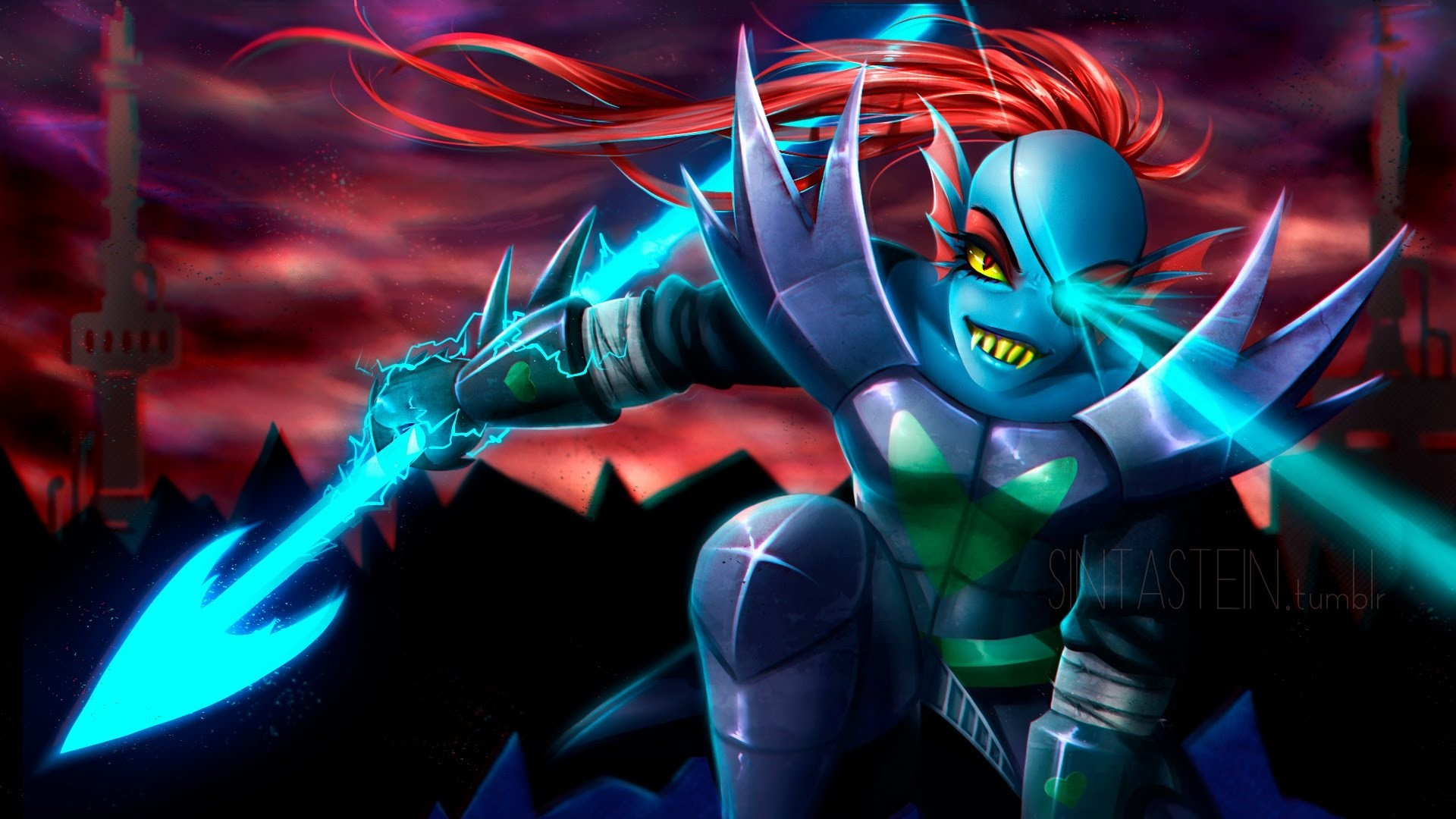 1920x1080 Undyne by Maximum-124 on DeviantArt