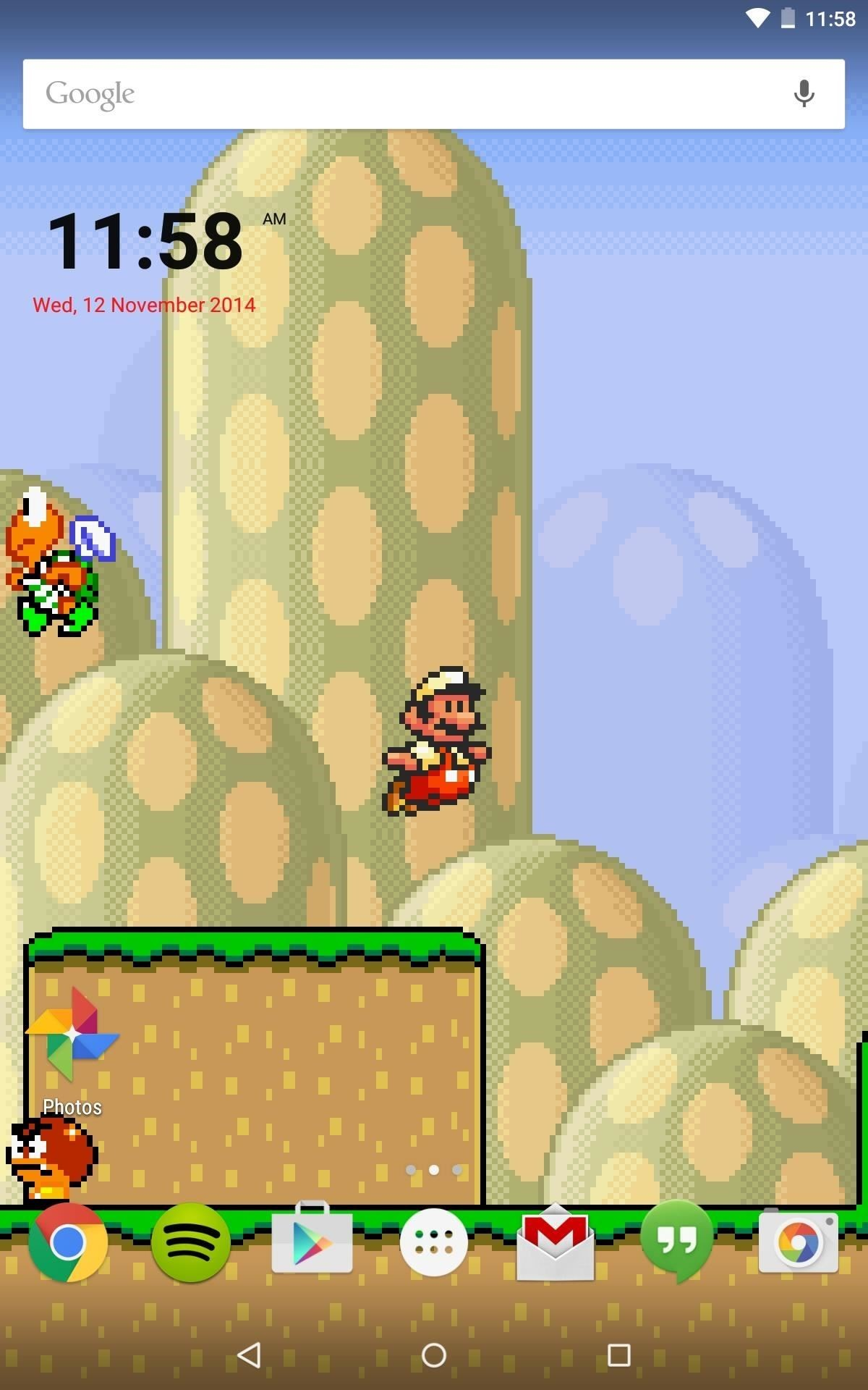 1200x1920 While this live wallpaper would be much cooler if it were actually  playable, it's still much better than staring at static image of Mario.