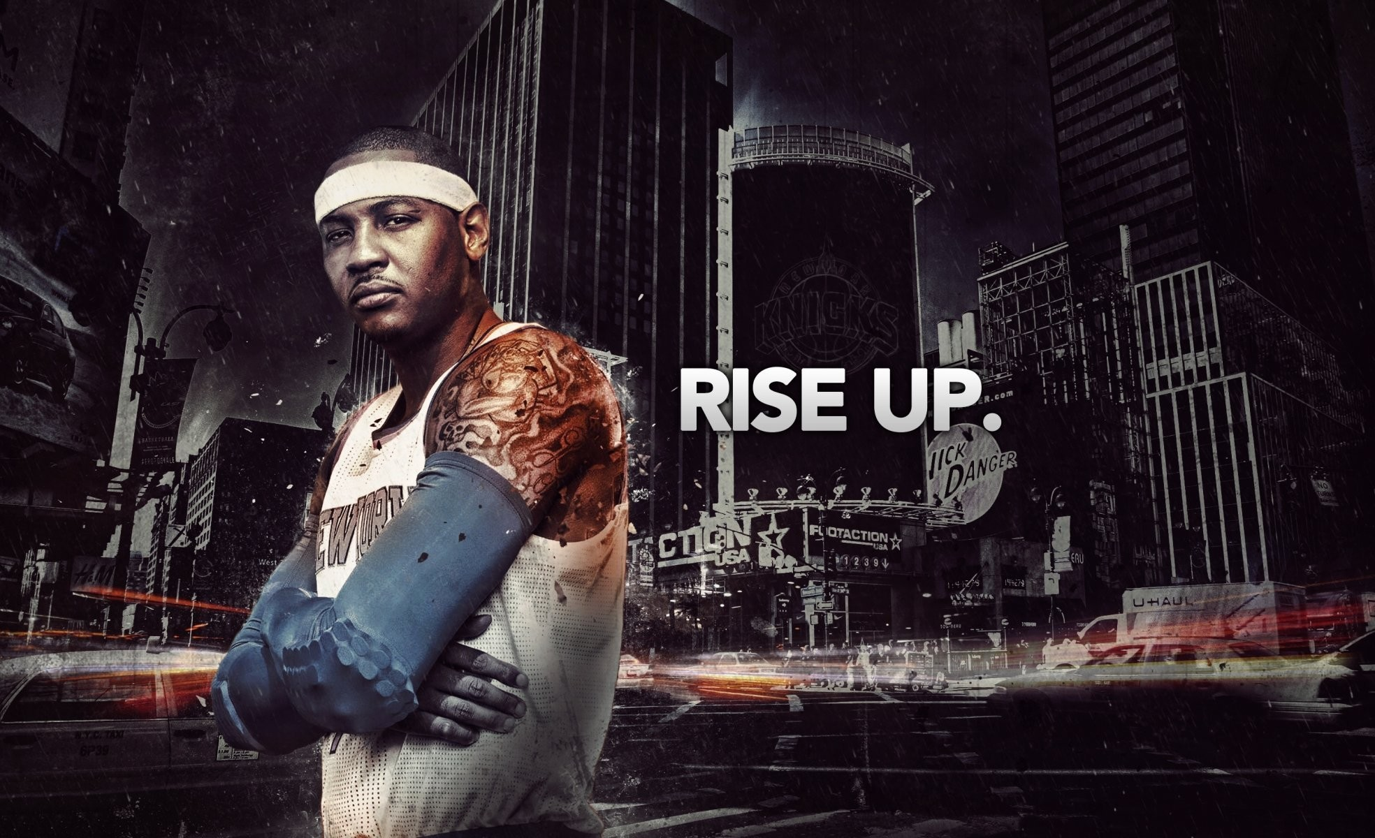 1968x1200 carmelo anthony new york knicks town tattoos nba basketball