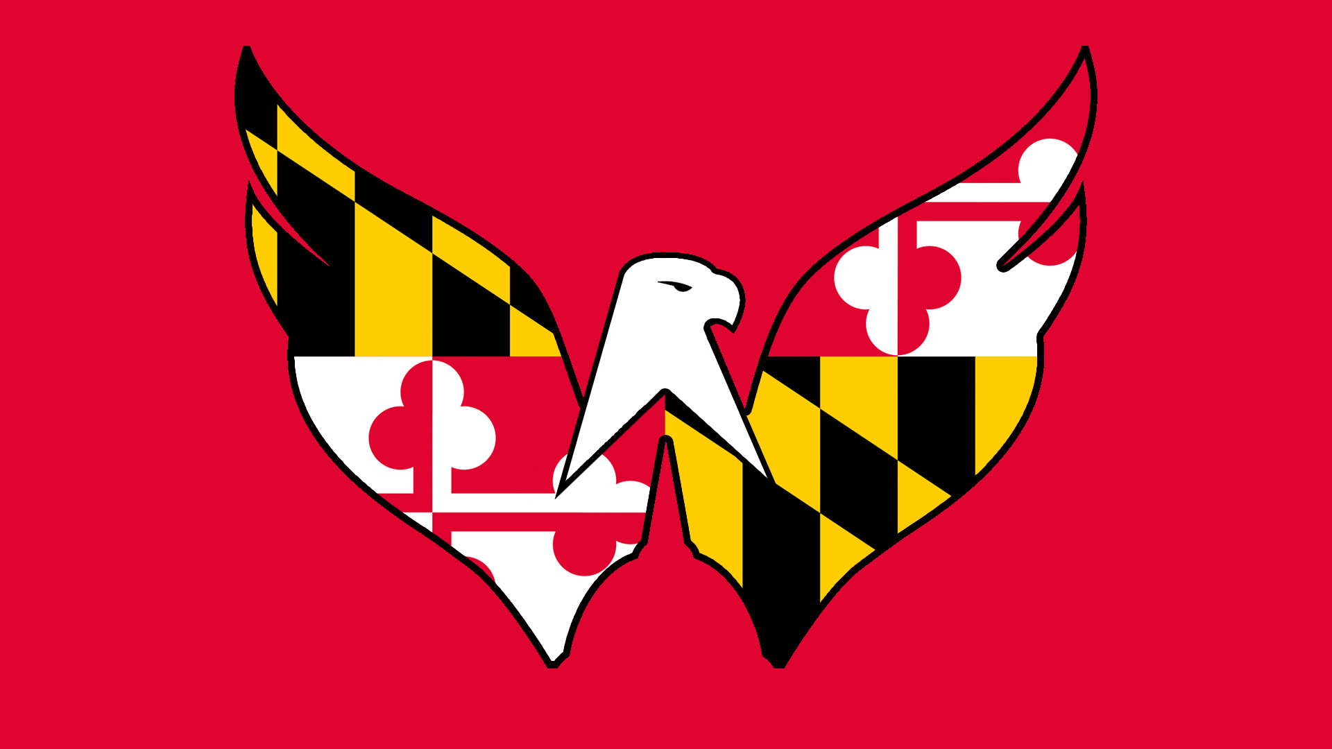 1920x1080 Maryland Flag Weagle Background by /u/StickyBooger (Full album in comments.