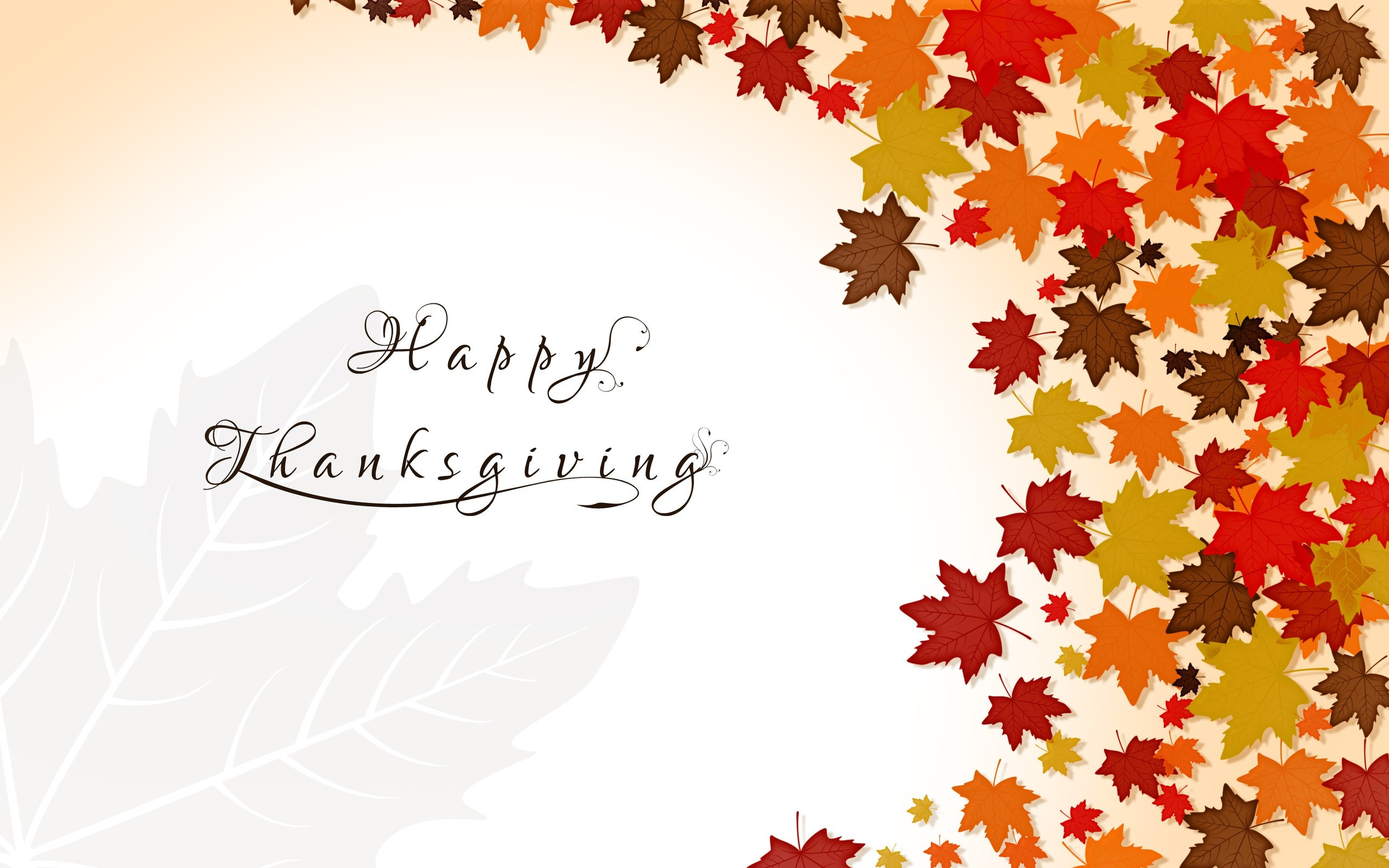 2560x1600 Cute Thanksgiving Background Free Download.