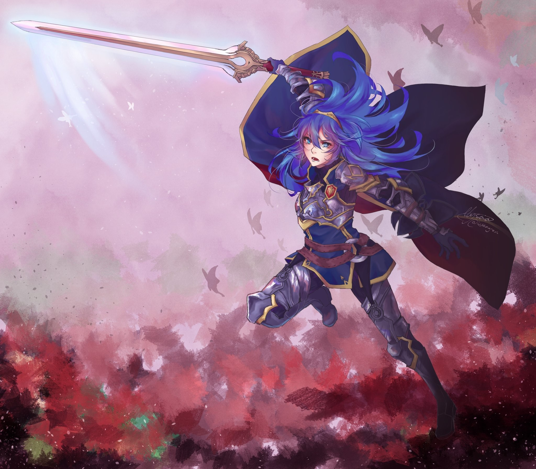 2048x1792 Fire emblem · Lucina as Great Lord commissioned artwork