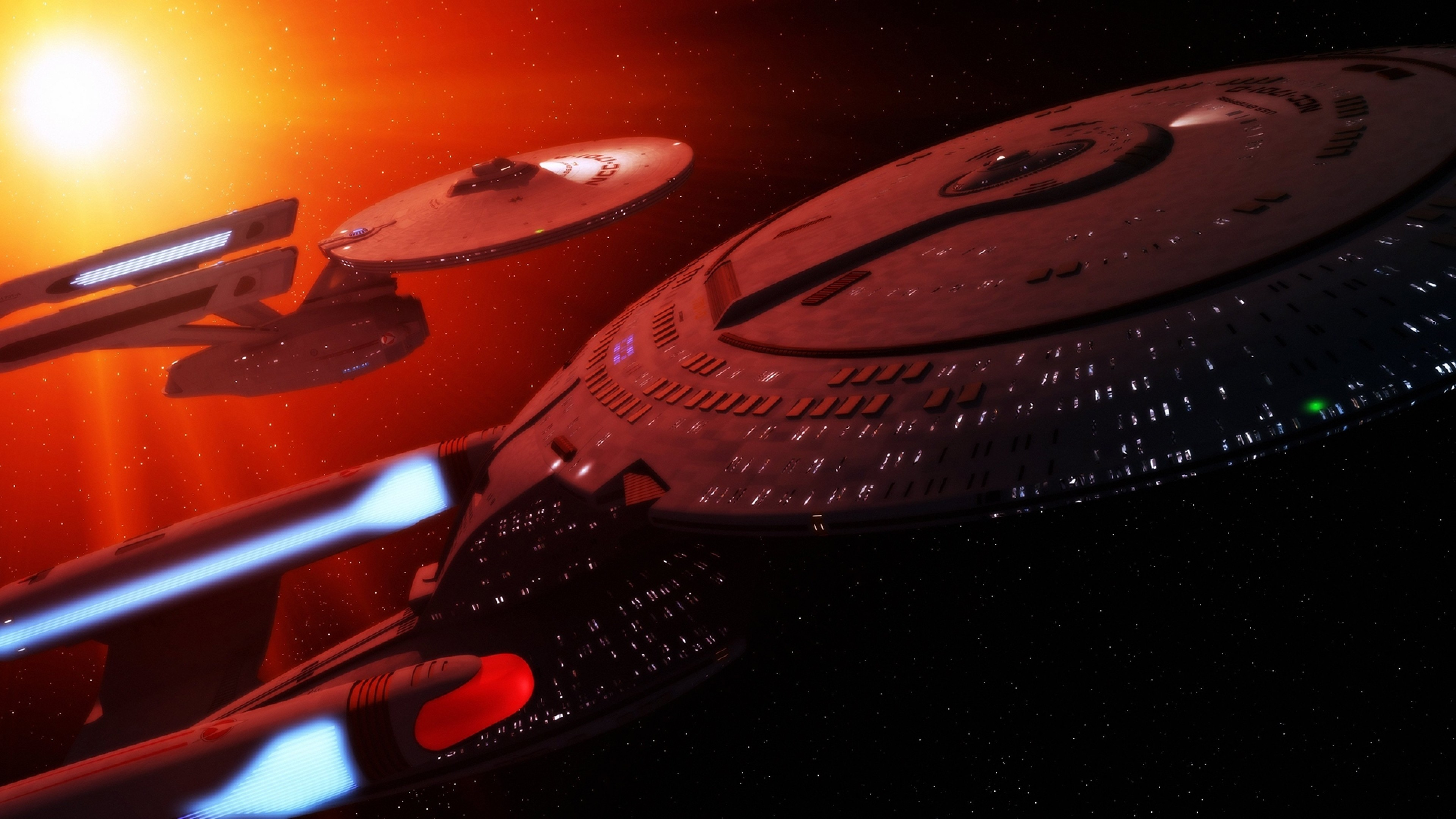 3840x2160 Starship Enterprise, Star Trek, Space, Sci-fi