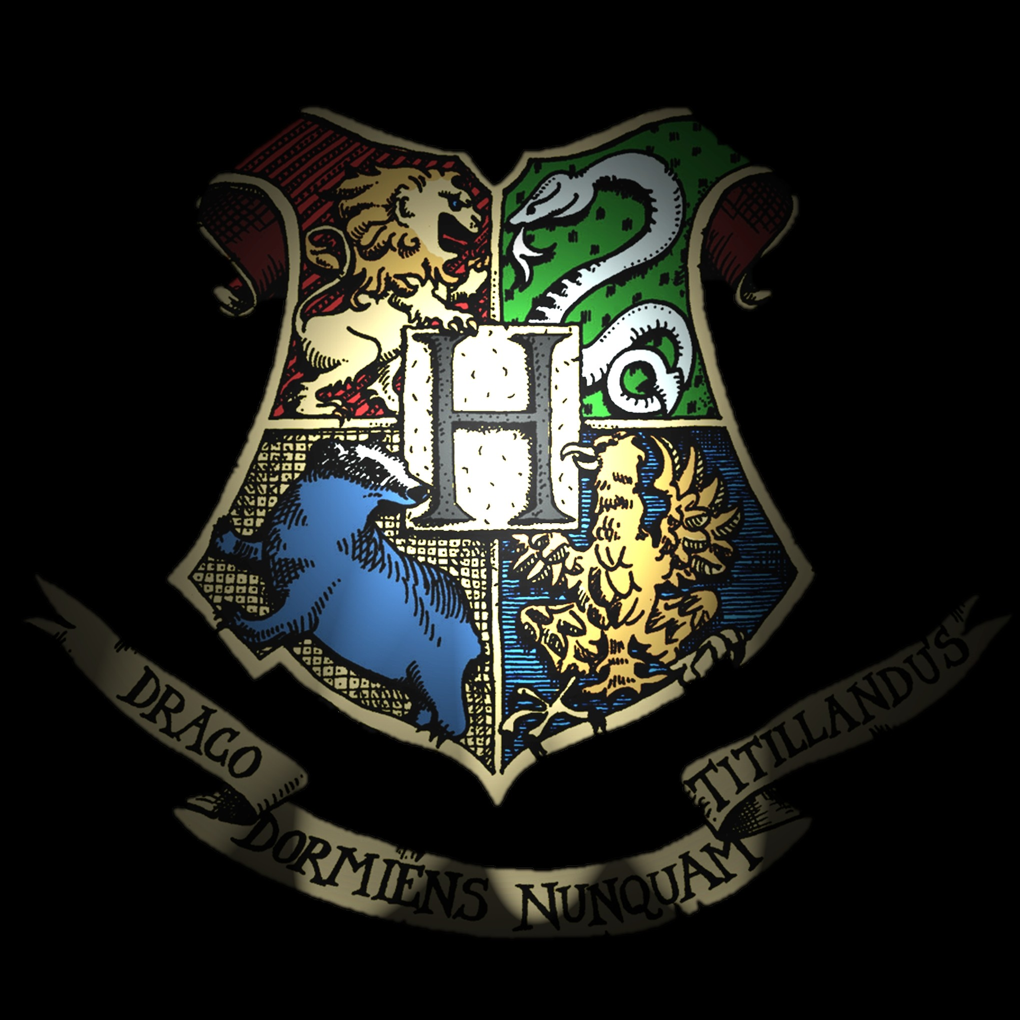 2039x2039 Harry Potter Hogwarts Crest Wallpaper Harry potter fans can now