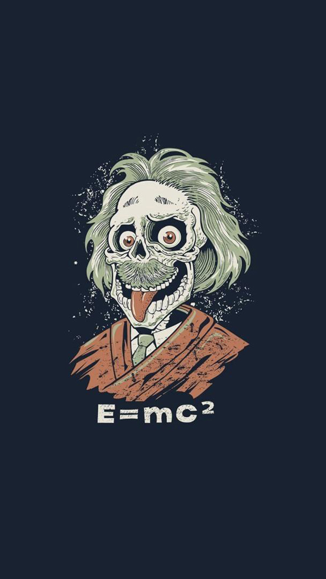 1080x1920 Funny Albert Einstein Caricature HD Wallpaper iPhone 6 plus
