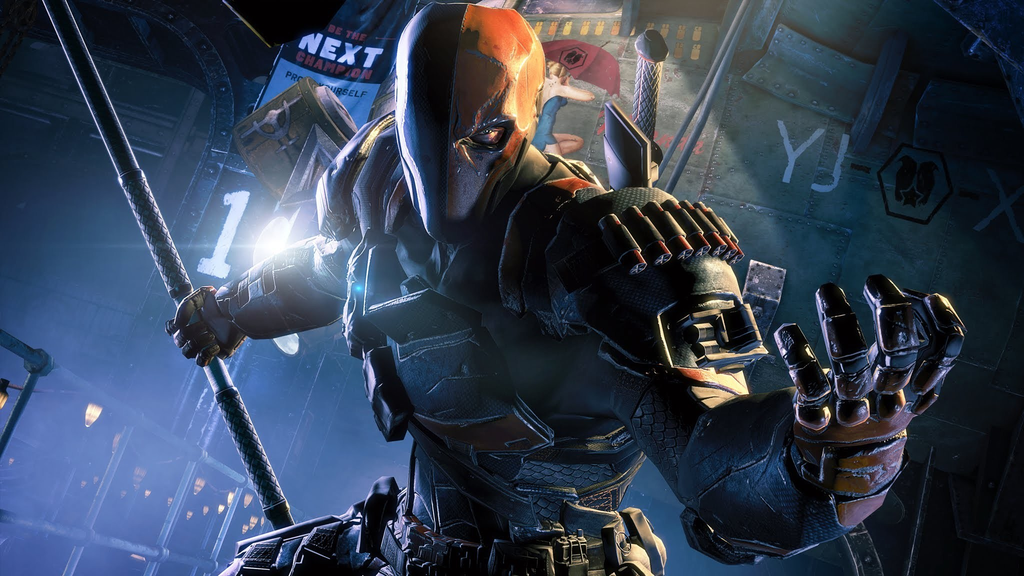 2048x1152 Batman: Arkham Origins - Deathstroke Challenge Pack Gameplay Trailer