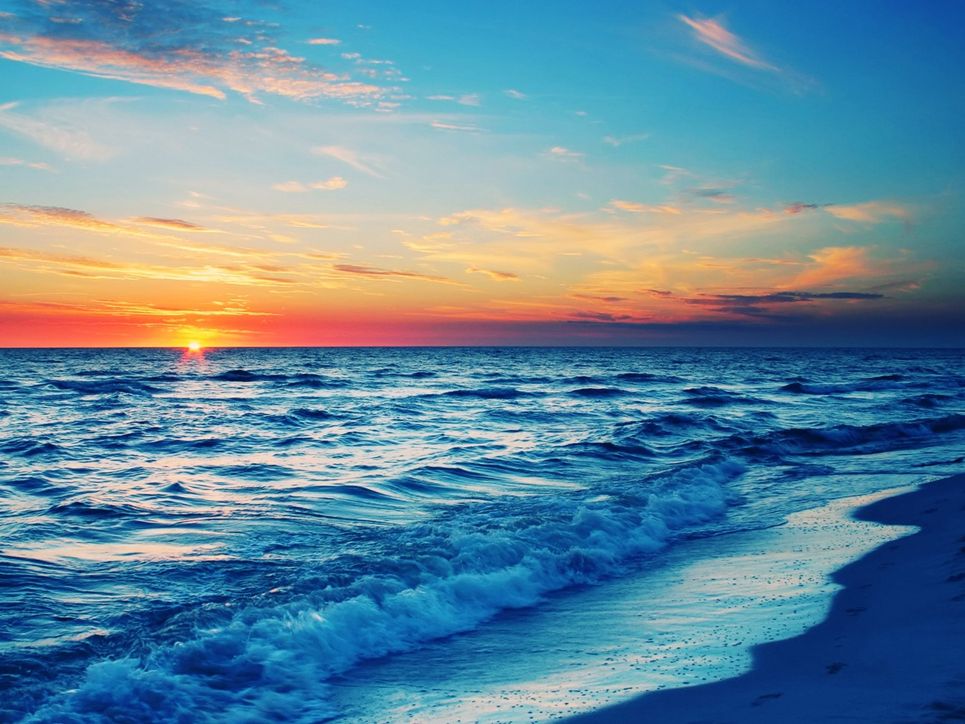 1920x1440 Stunning Ocean Sunset Wallpaper 35977