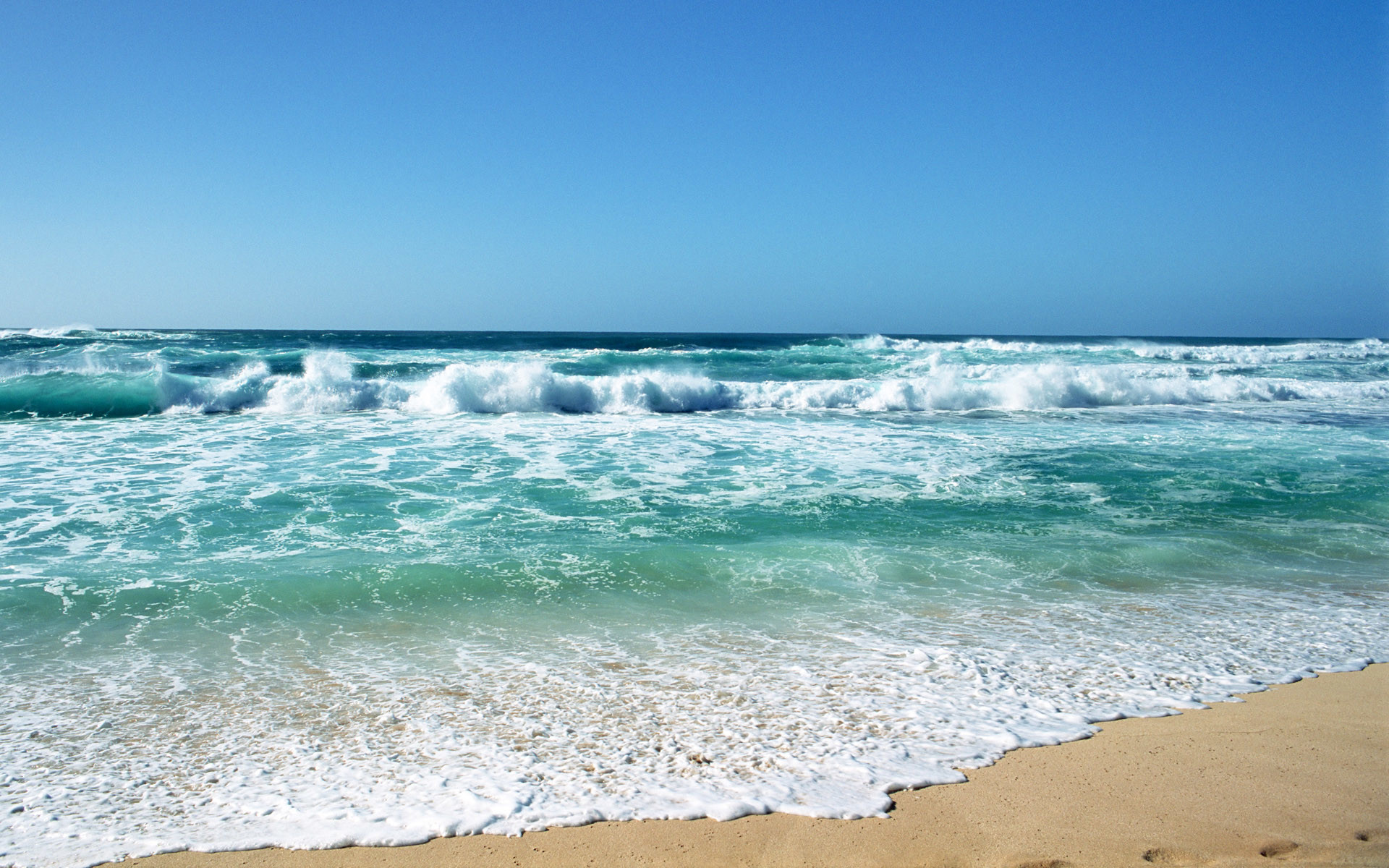 1920x1200 animated beach waves wallpaper