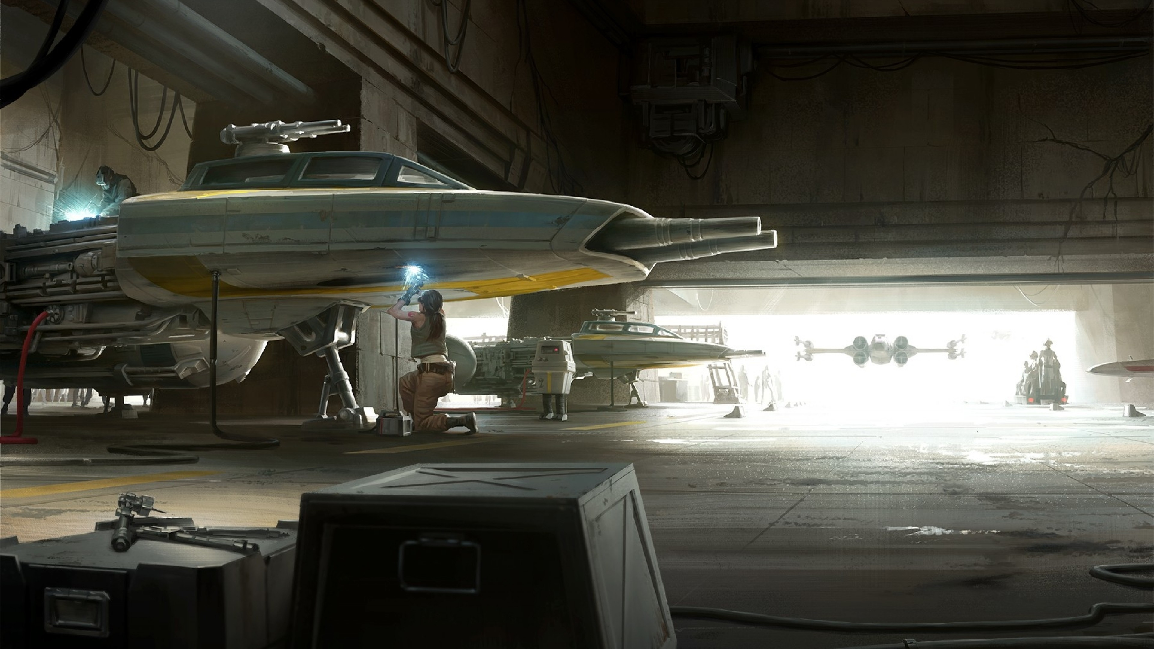3840x2160 Spaceship, Y-wing, X-wing, Star Wars, Sci-fi