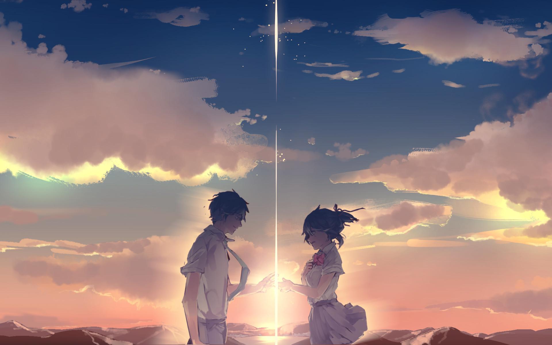 1920x1200 Anime - Your Name. Mitsuha Miyamizu Taki Tachibana Kimi No Na Wa. Wallpaper