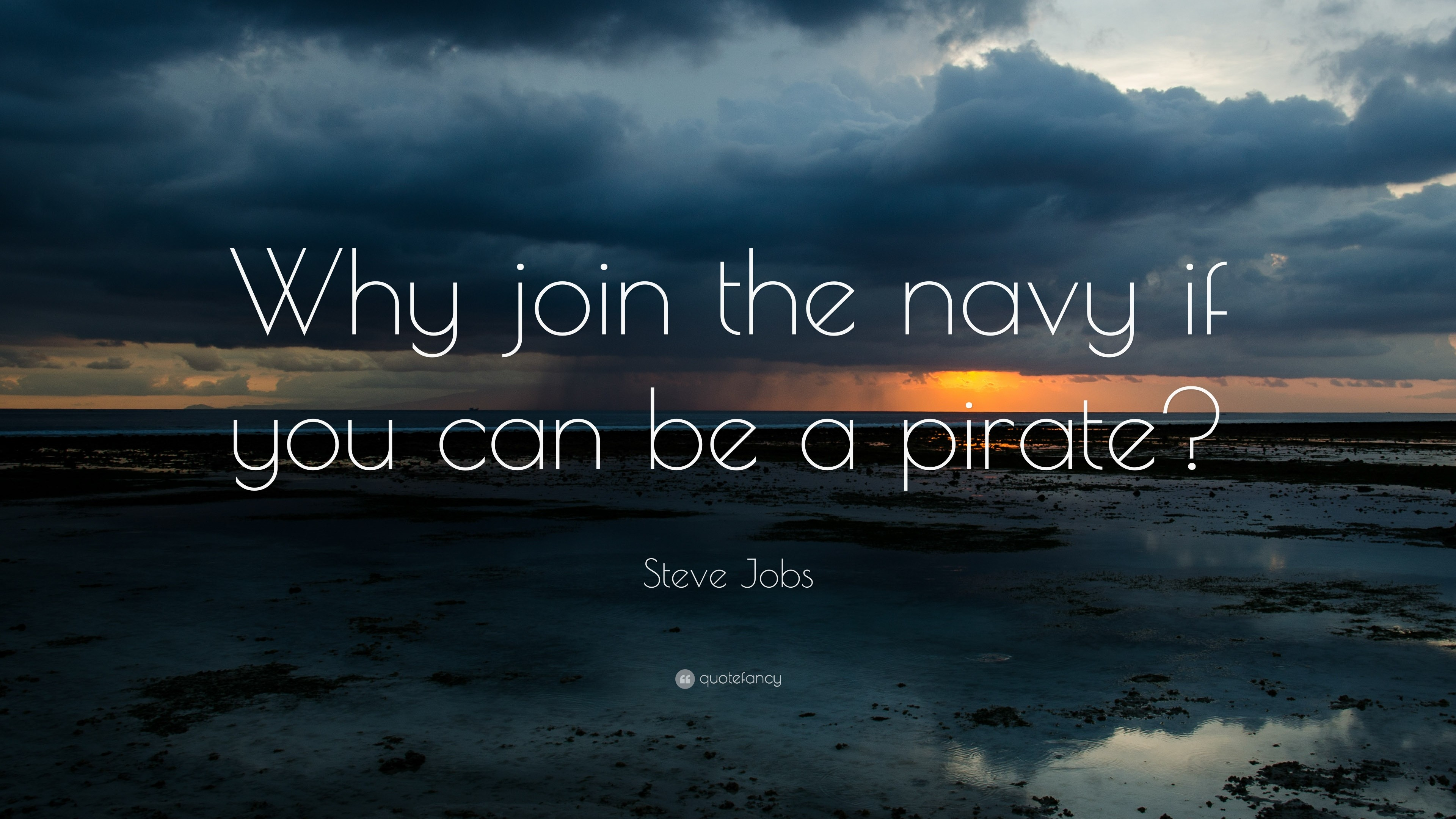 "3840x2160 Funny Quotes: ""Why join the navy if you can be a pirate?"""