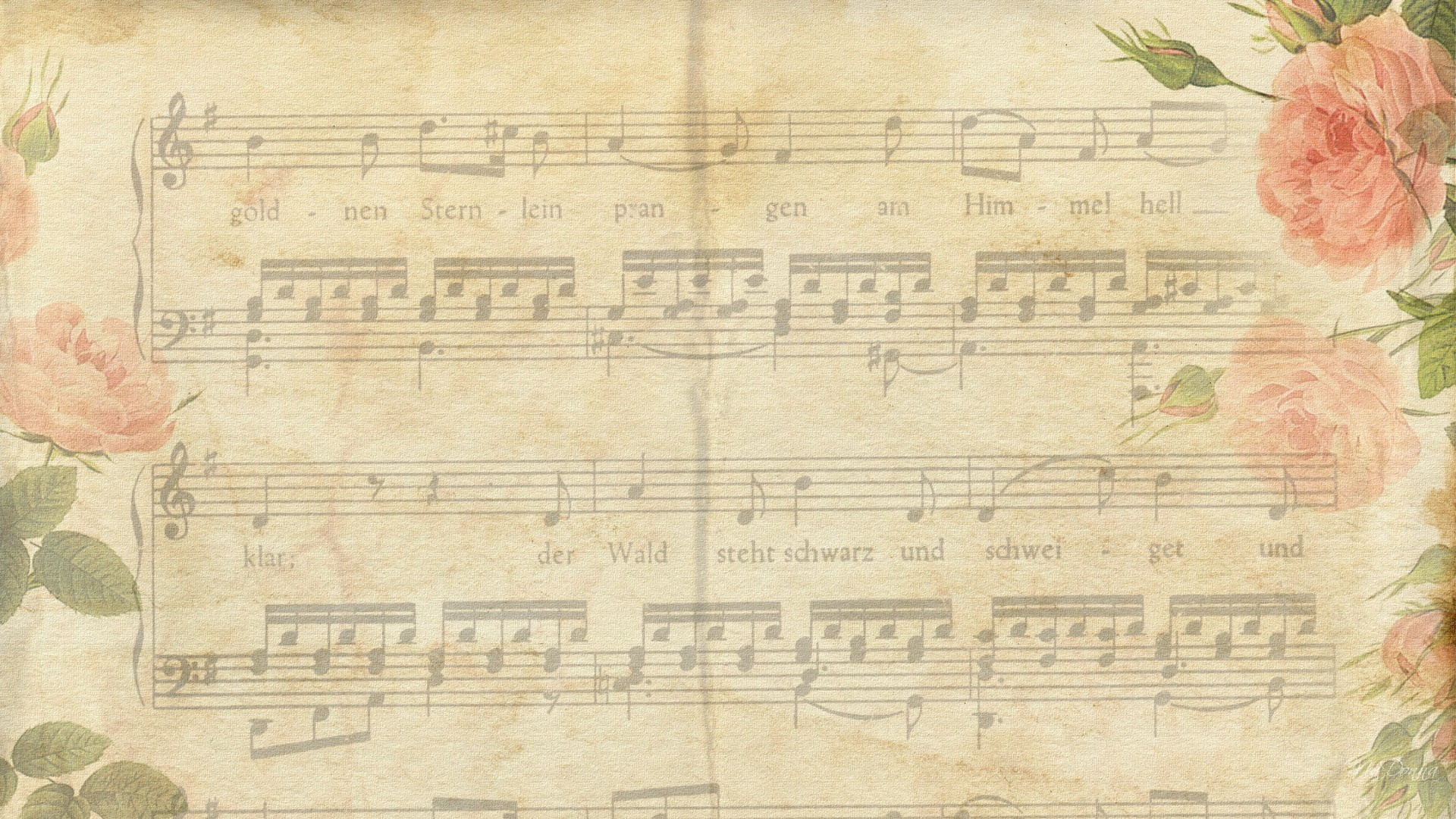 1920x1080 wallpaper vintage music retro music devices pattern