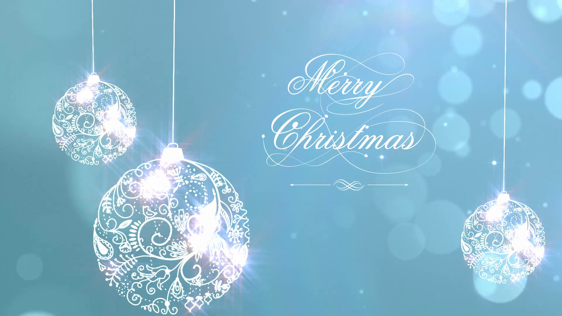 1920x1080 Merry Christmas Background with Ornaments