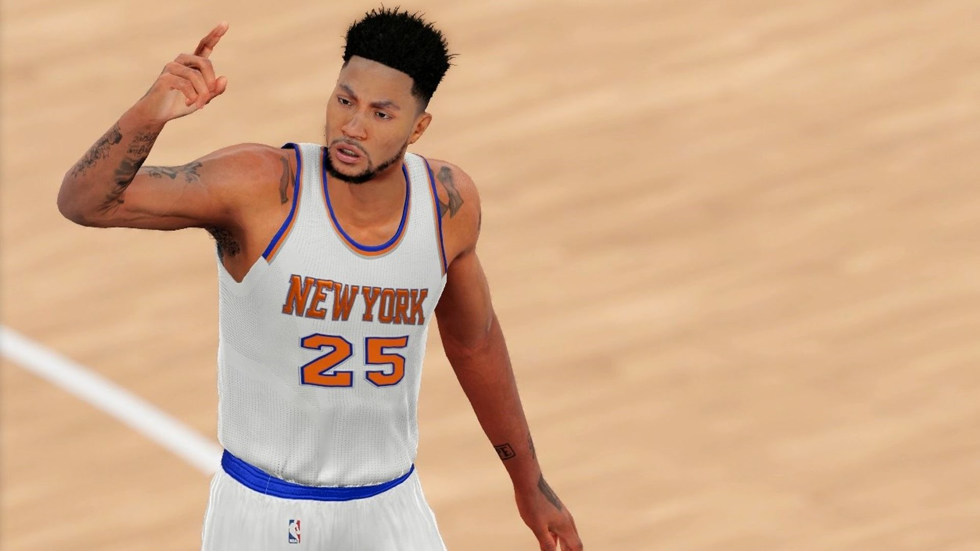 1920x1080 Derrick Rose Traded to the New York Knicks | NBA 2k16 - Knicks vs Cavaliers  (1080p 60fps) - YouTube