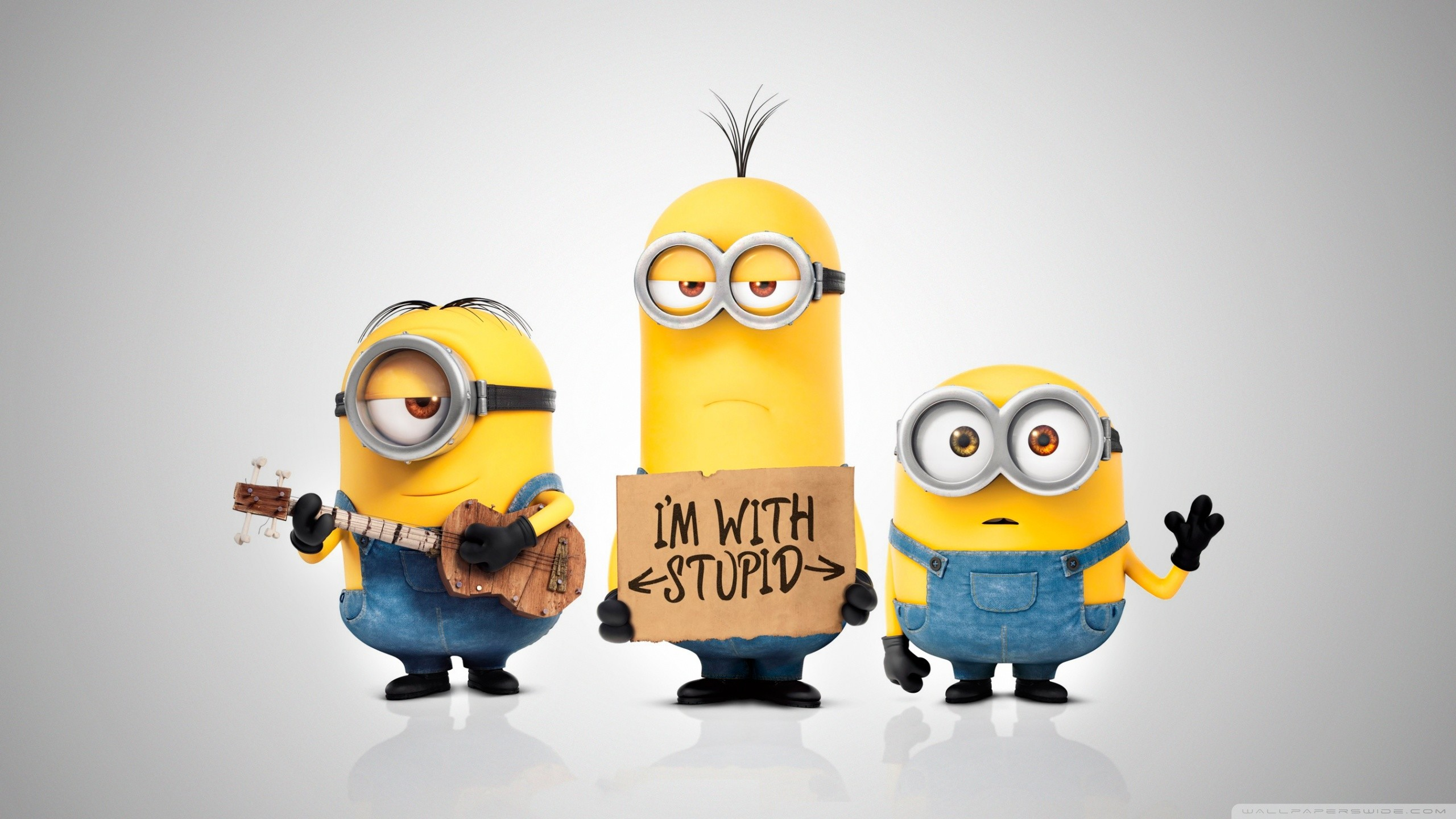 2560x1440 Minions 2015 Movie HD Wide Wallpaper for Widescreen