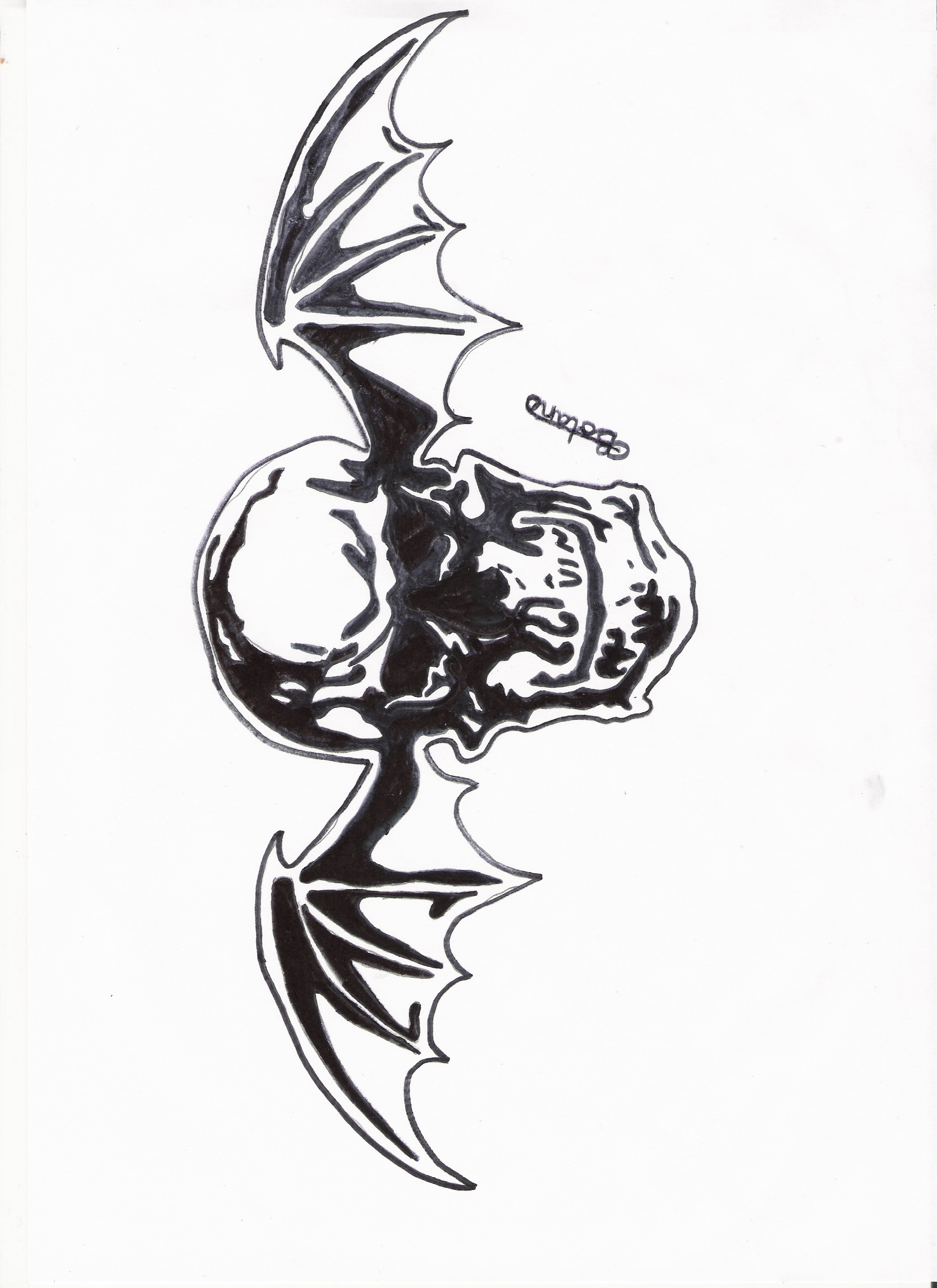 1700x2338 Avenged Sevenfold Deathbat by rockyb123 Avenged Sevenfold Deathbat by  rockyb123