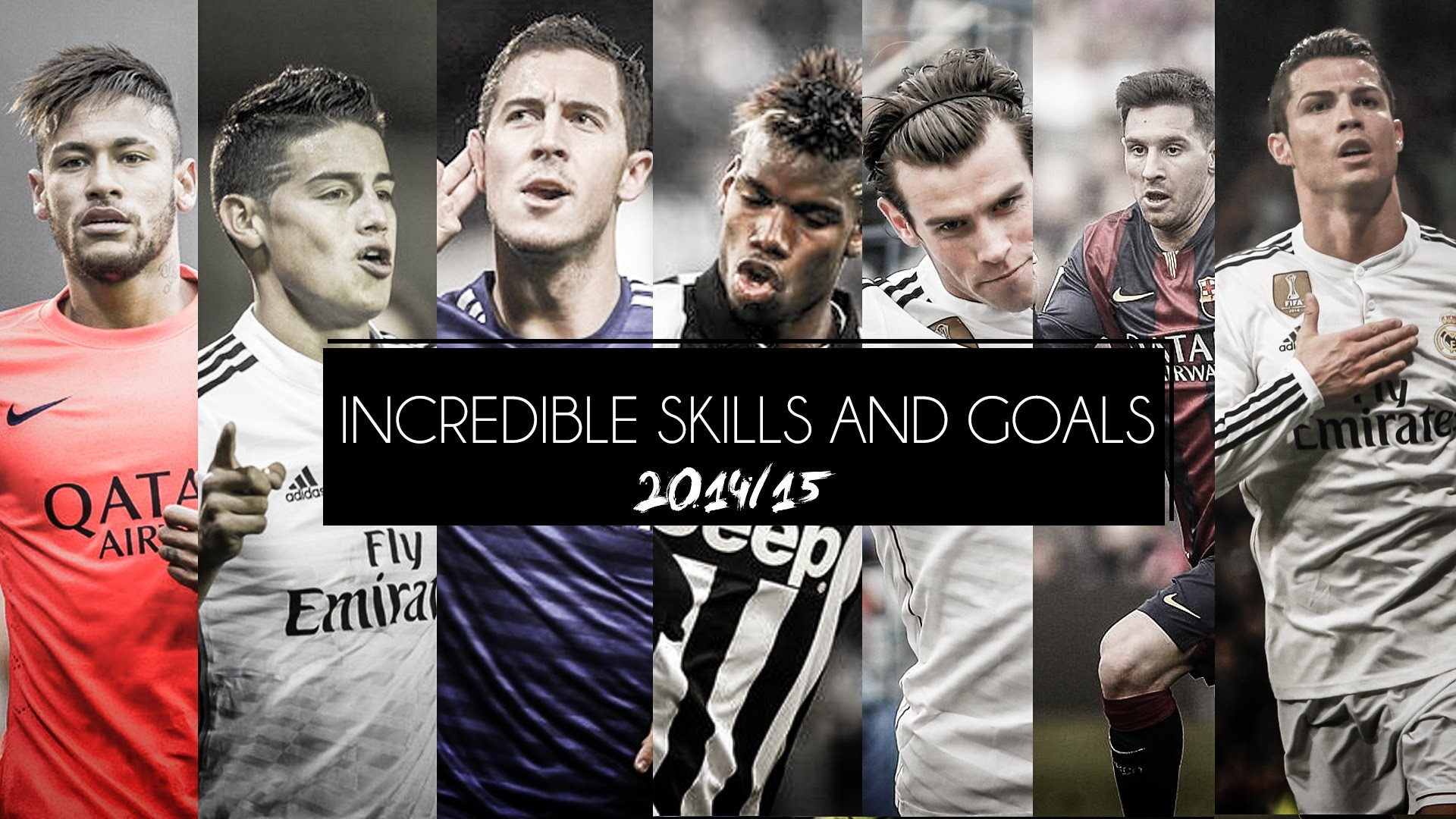 1920x1080 CRISTIANO RONALDO ○ NEYMAR ○ MESSI ○ BALE○POGBA○HAZARD○J.RODRIGUEZ -  Incredible Skills & Goals 2015 - YouTube