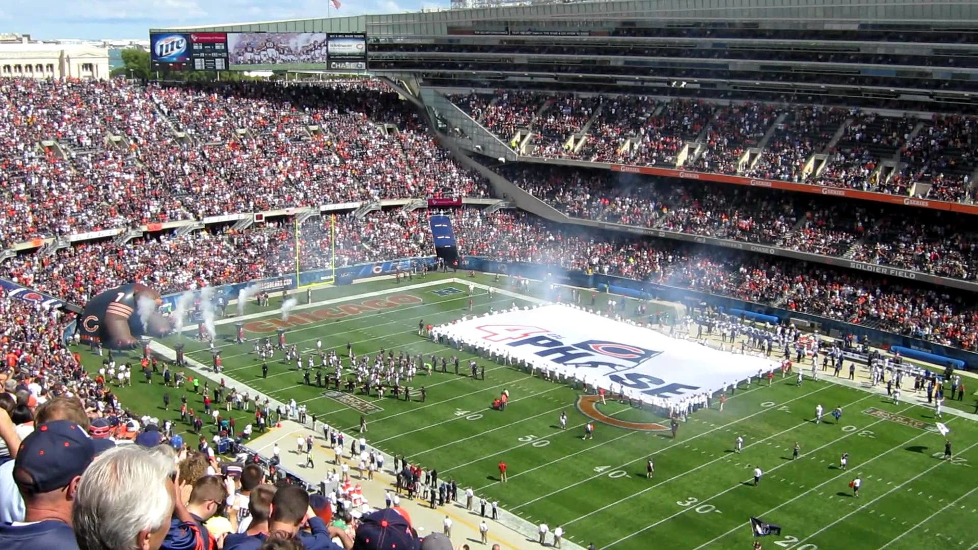 1920x1080 Awesome Flyover at Soldier Field for Chicago Bears Home Opener 2012 versus  Colts - YouTube