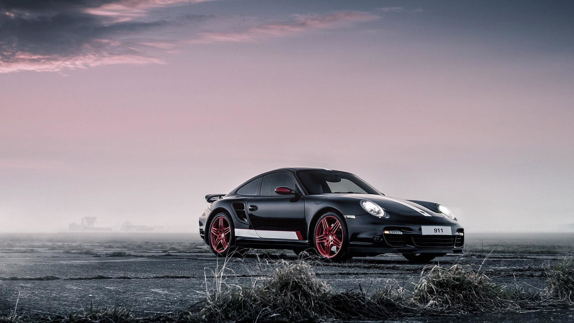 1920x1080 Black Porsche 911 race car