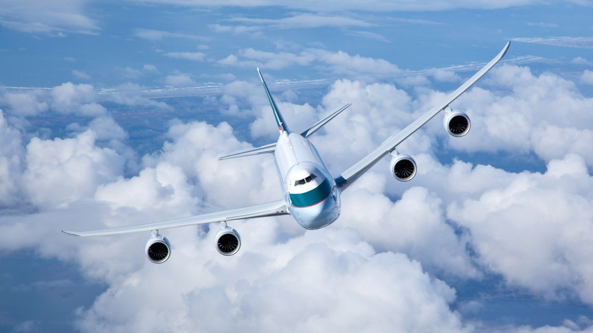 1920x1080 Boeing 747 Passagierflugzeug HD Wallpaper #13 - .