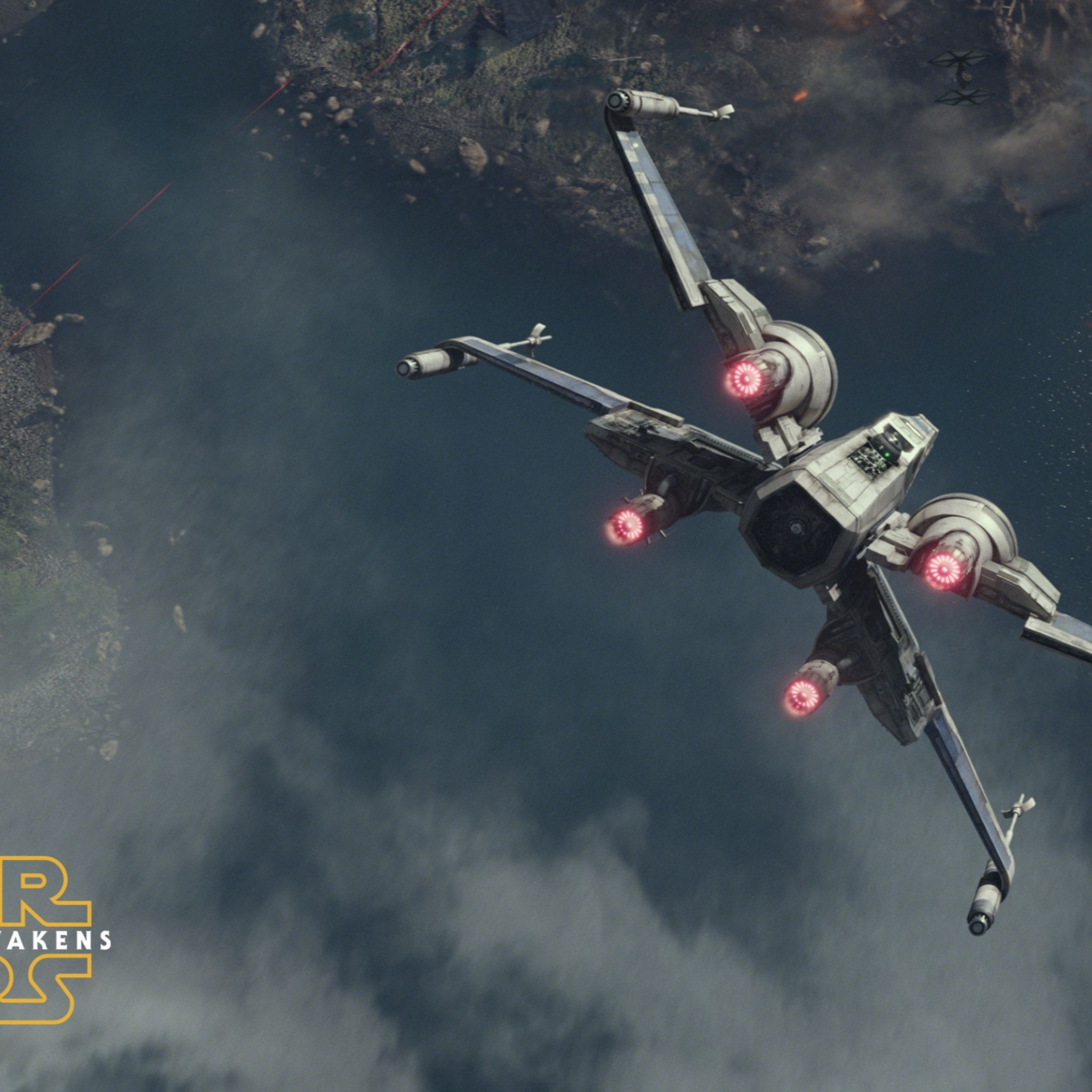 2048x2048 Best X-Wing Fighter Star Wars The Force Awakens 4K Wallpaper | Best Games  Wallpapers | Pinterest | Wibbly wobbly timey wimey and Starwars