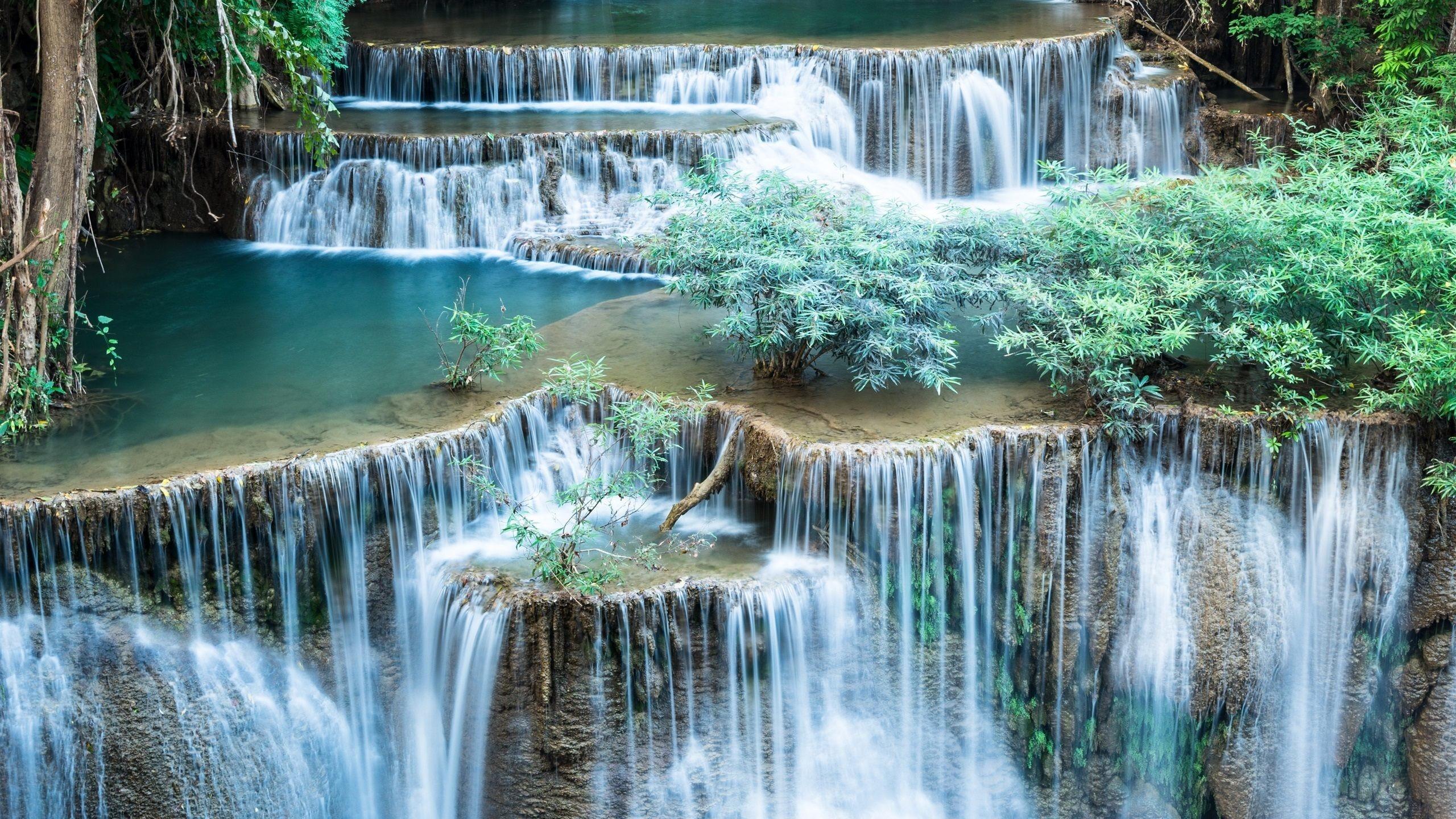 2560x1440 Waterfalls Beautiful Scenery Wallpaper
