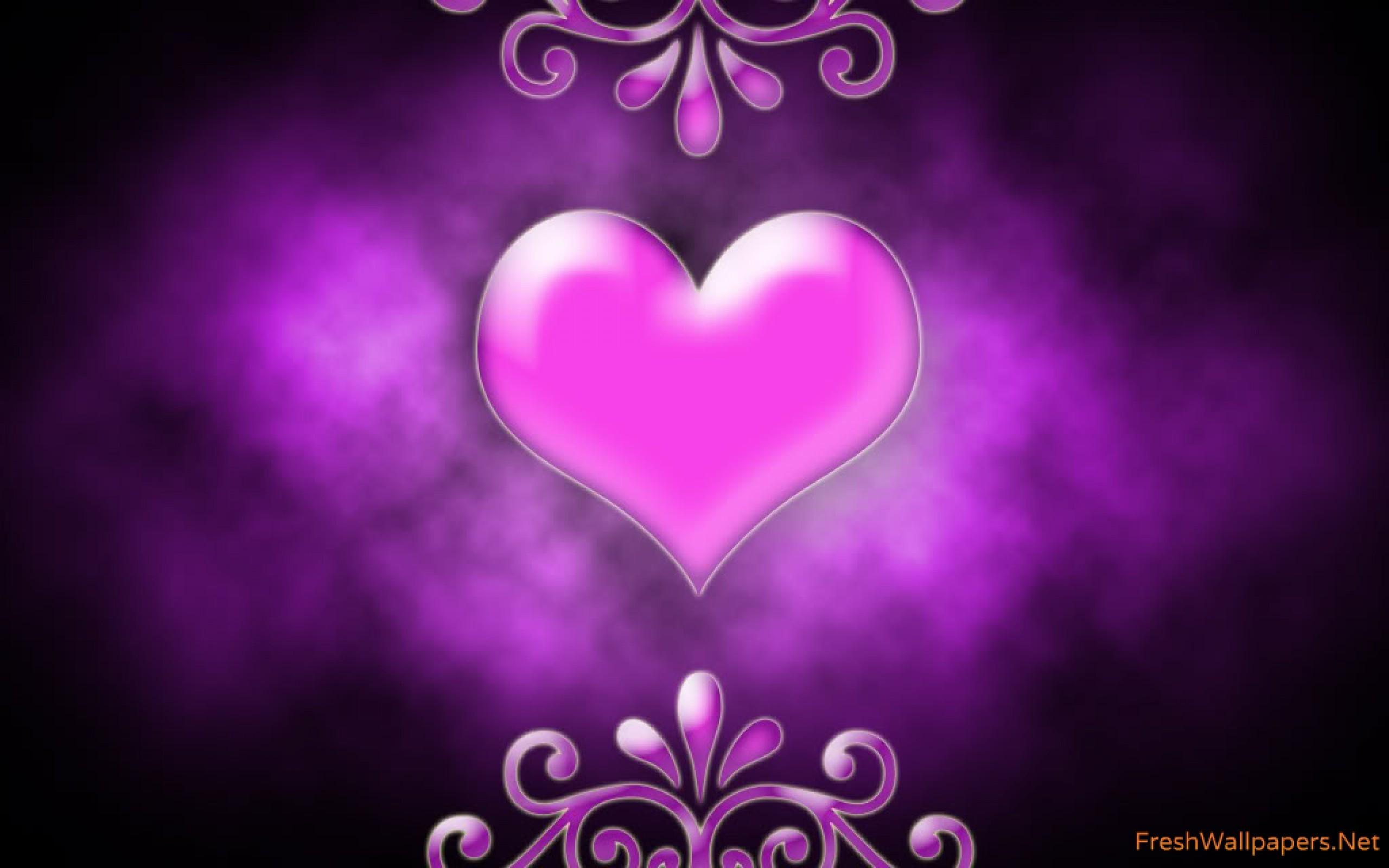Purple And Black Hearts Wallpaper: Purple Hearts Wallpaper (58+ Images