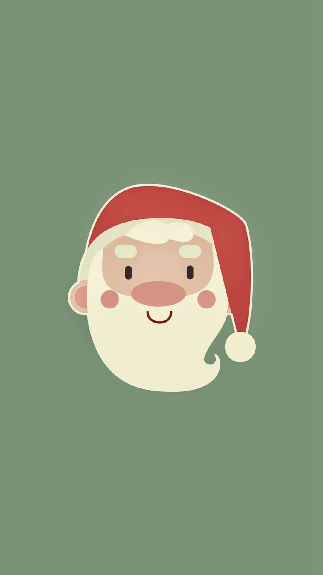 1080x1920 Cute Santa Claus Minimal Illustration iPhone 8 wallpaper