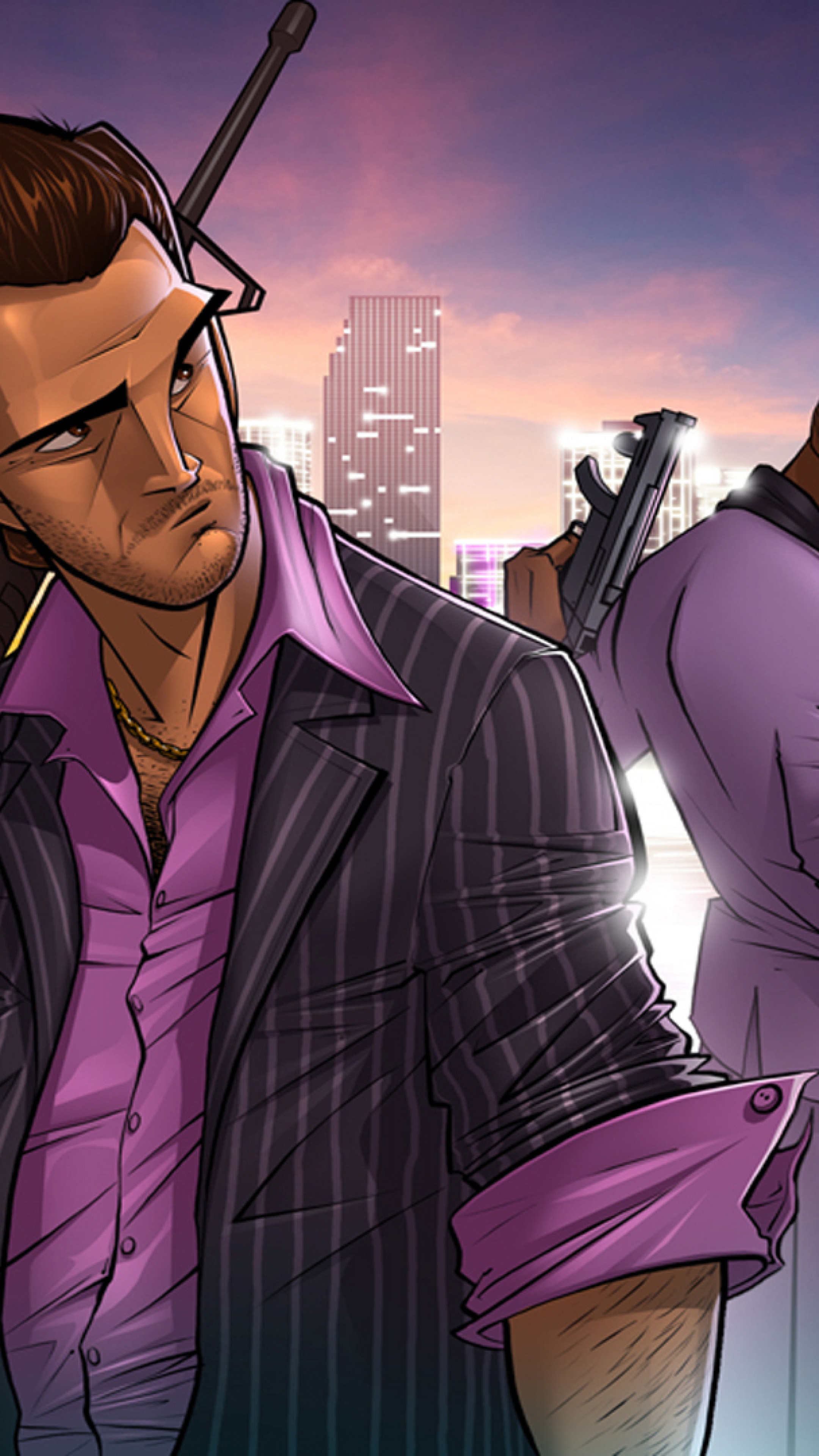 2160x3840  Wallpaper tommy vercetti, grand theft auto, vice city, gta,  patrick brown